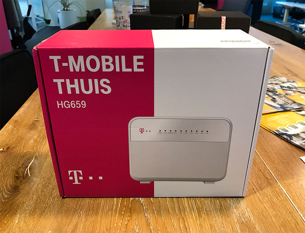 The product - T-Mobile Thuis router to receive internet + television channels at home