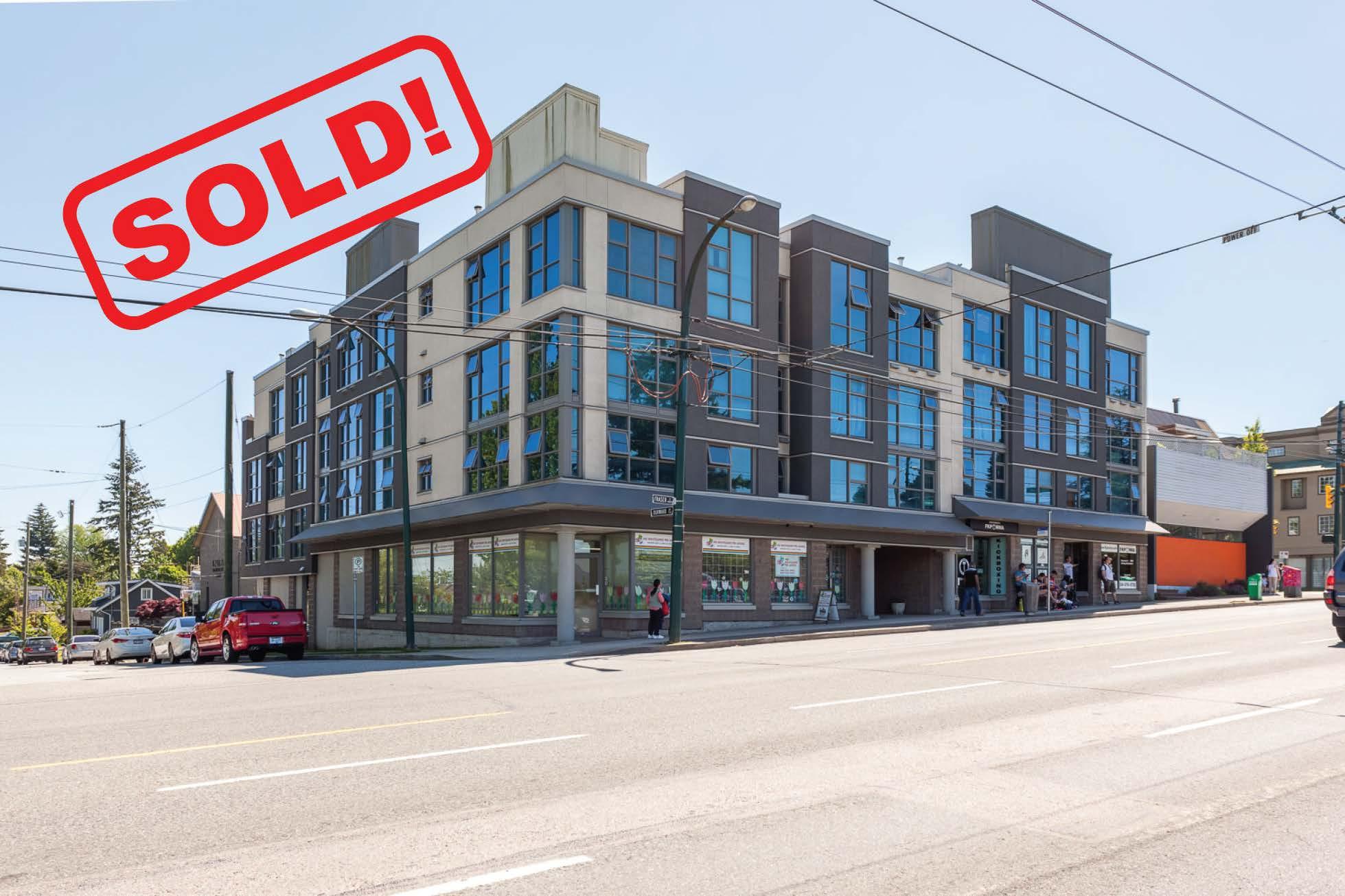 207-4868 Fraser Street   Sold foR: $446,750  1 Bed | 1 Bath | 589 SF