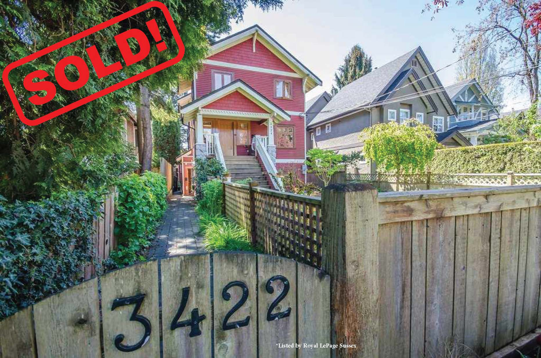 3422 West 7th Avenue   sold for: $1,650,000  3 Bed | 2 Bath | 1,263 SF