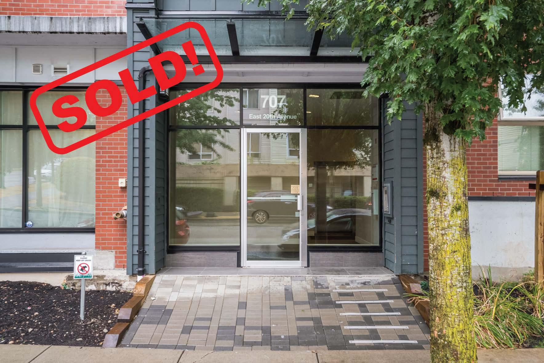 301-707 E. 20th Avenue   sold for: $523,000  1 Bed | 1 Bath | 612 SF