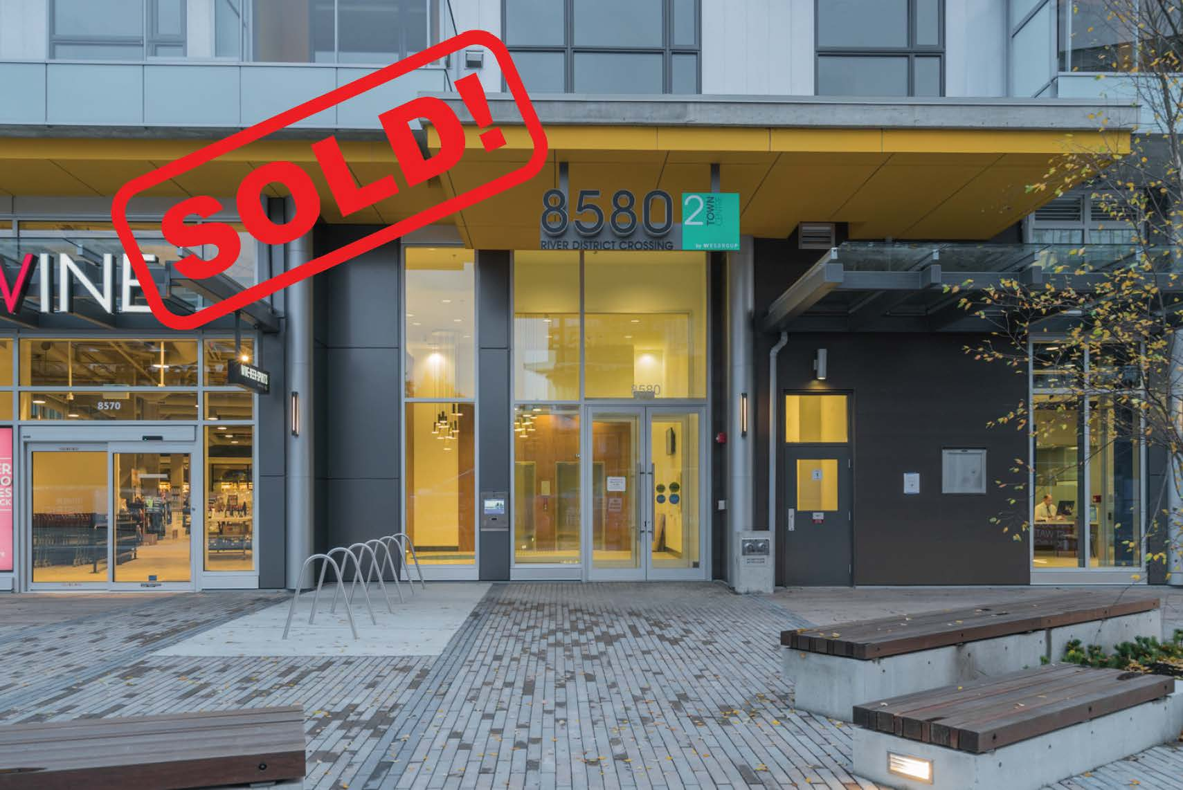 310-8580 River District Crossing   SOLD FOR: $701,000  2 BED | 2 BATH | 945 SF