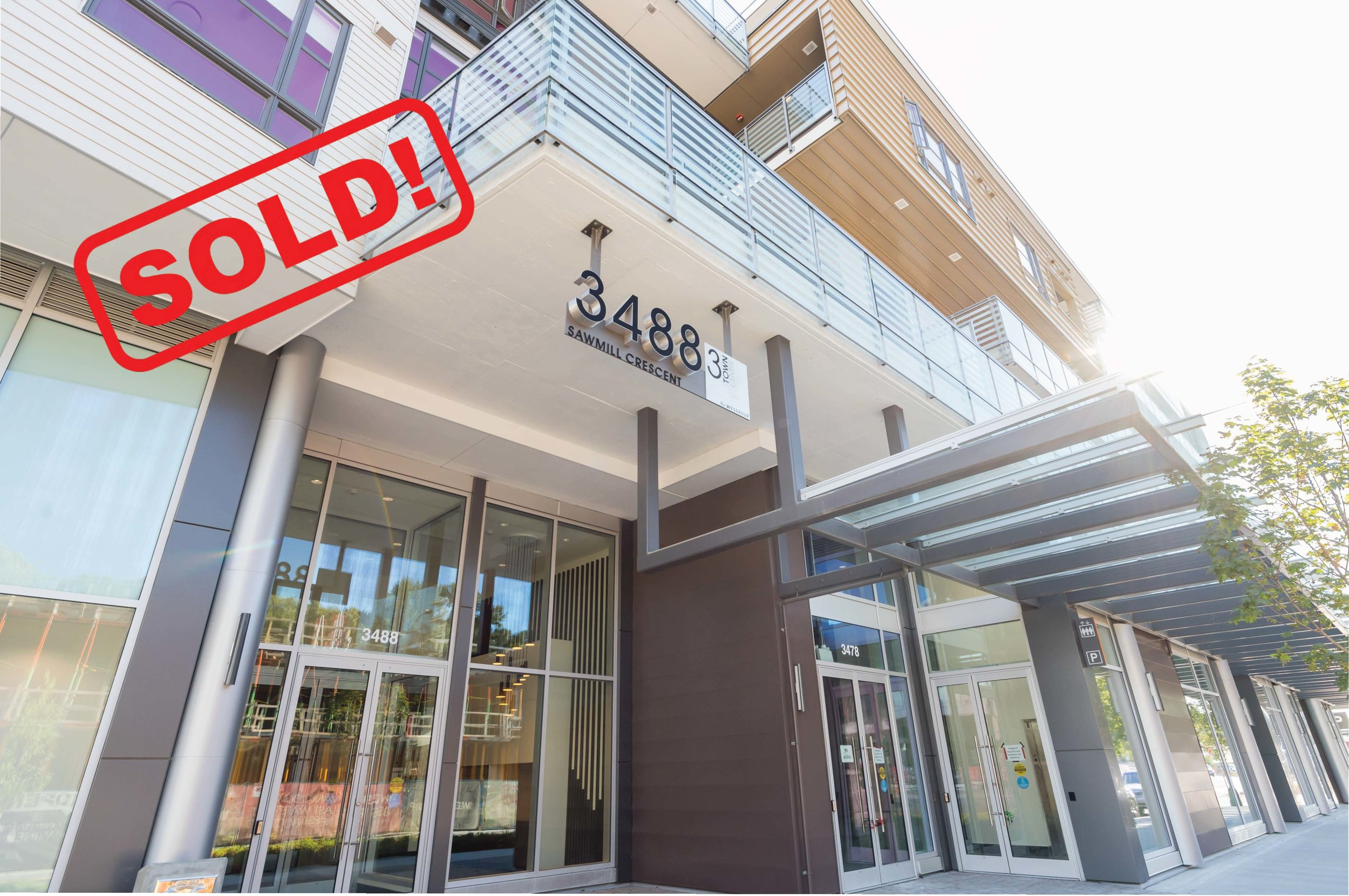 301-3488 SAWMILL CRESCENT     SOLD FOR: $495,000  1 BED | 1 BATH | 595 SF