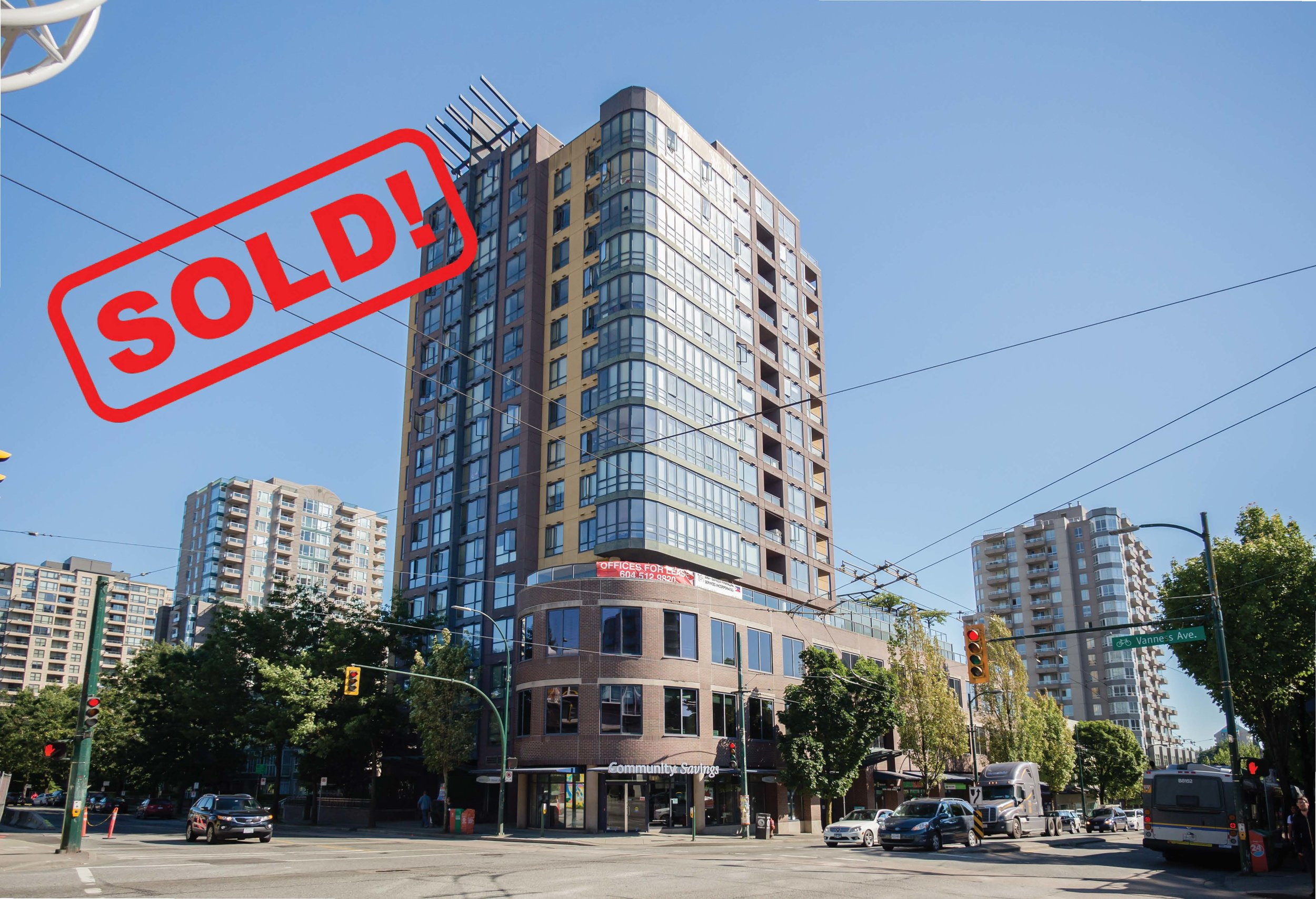 1203-3438 VANNESS AVENUE     SOLD FOR: $359,000  0 BED | 1 BATH | 406 SF