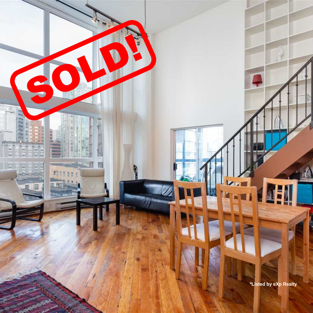 505-1238 SEYMOUR STREET SOLD FOR:  $720,000   1 BED | 1 BATH | 862 SF
