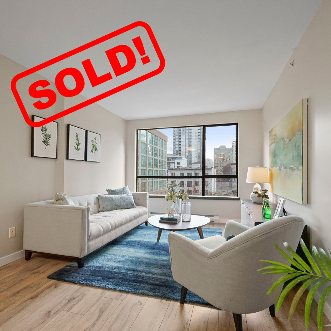 507-1189 HOWE STREET SOLD FOR:  $708,000   2 BED | 2 BATH | 833 SF