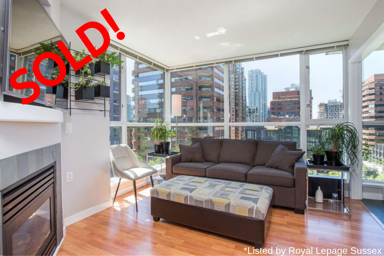 1008-1068 HORNBY STREET SOLD FOR:  $575,000   1 BED | 1 BATH | 549 SQ FT