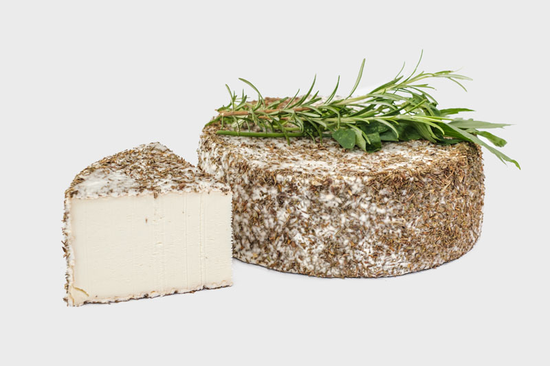 florence provençale - – Met Provençaalse kruiden –Een romige, handgeschepte geitenbrie met een fijn laagje provençaalse kruiden net onder de witschimmelkorst dat zorgt voor een subtiel zuiders cachet en de smaak van gehooide kruiden.Kruidige geitenbrie
