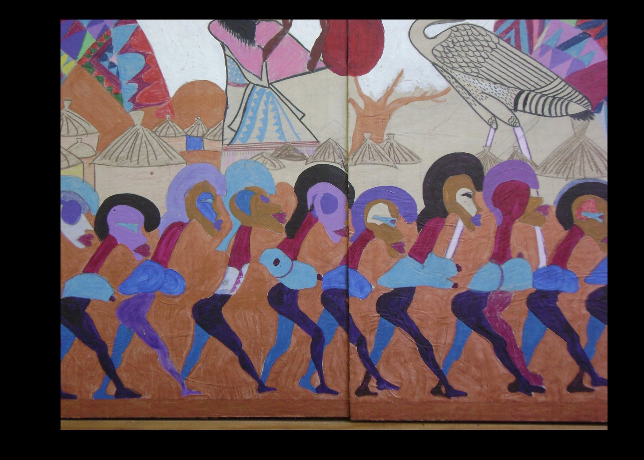 Nyame Birbi Wo Soro (detail from Maquette)