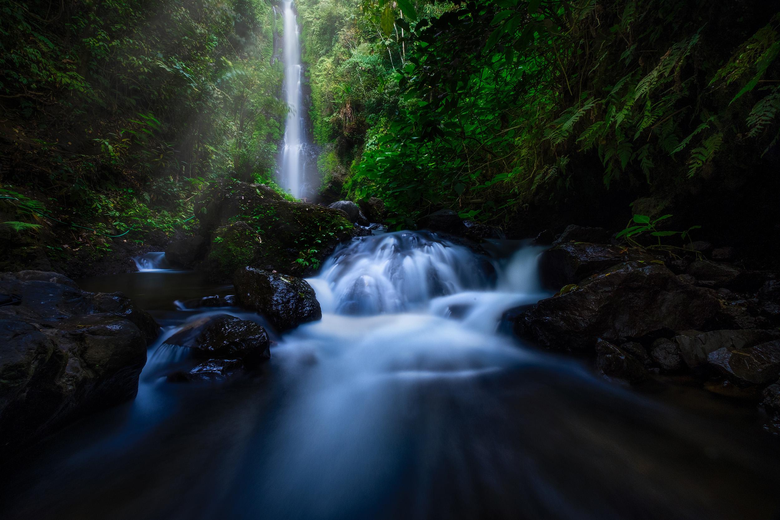 Munduk Waterfall   Laangan waterfalls in the Munduk hills of central Bali, Indonesia