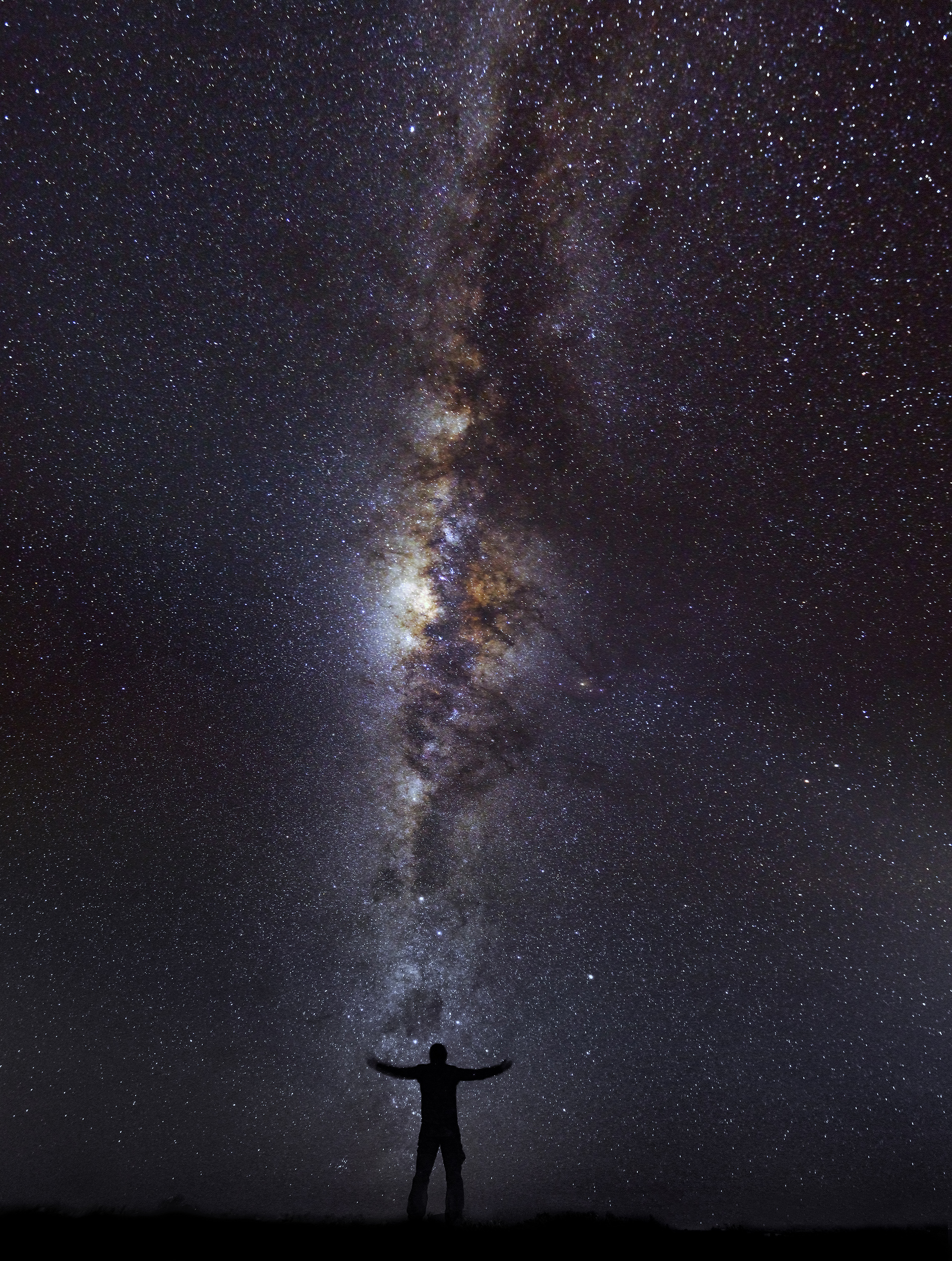 Titicaca Self Portrait   A self portrait taken beneath the stars on Isla del Sol in the middle of Lake Titicaca.