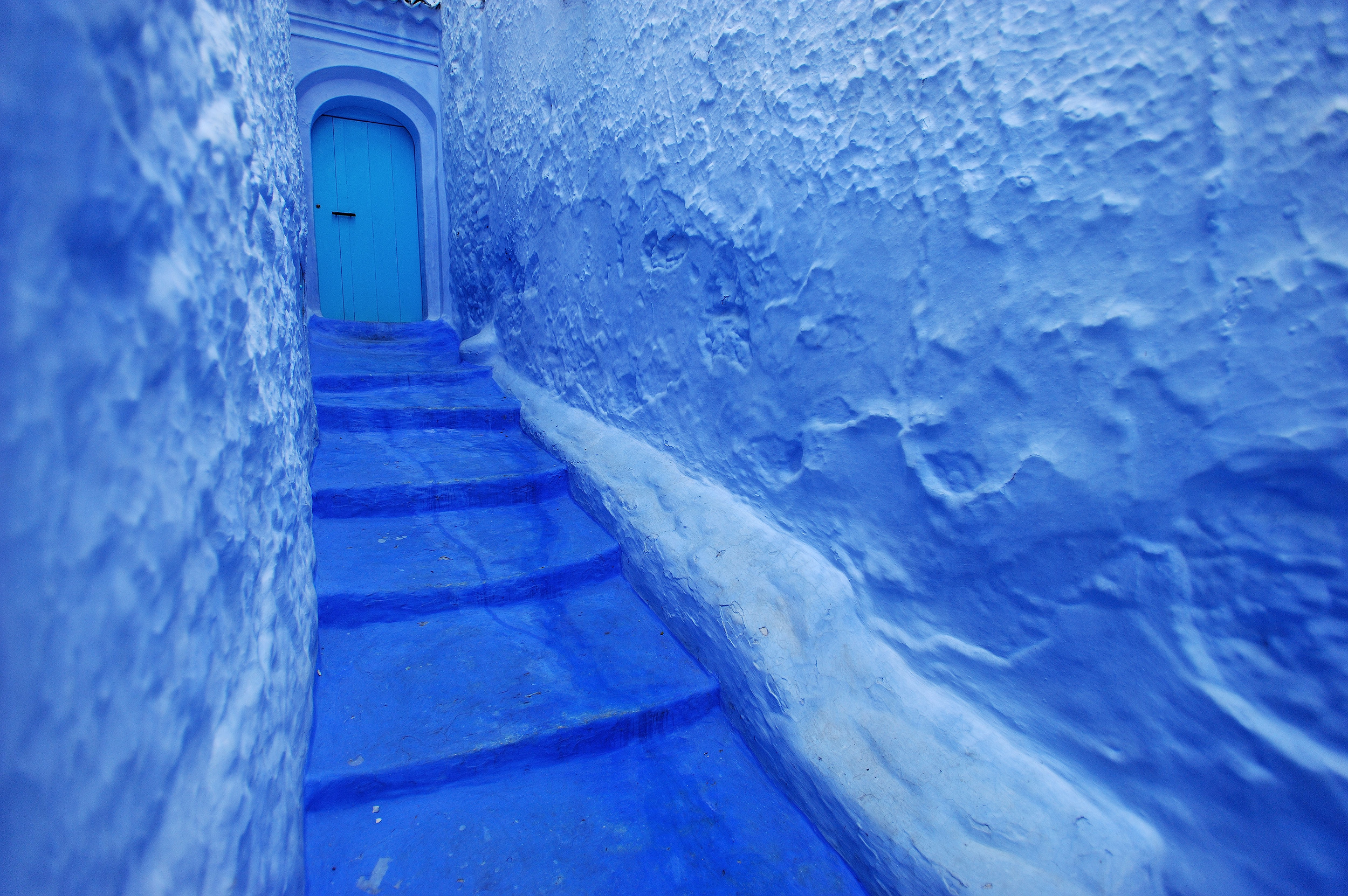 The Blue Door   A small street and door in the incredible blue town of Chefchaouen in the Rif Mountains