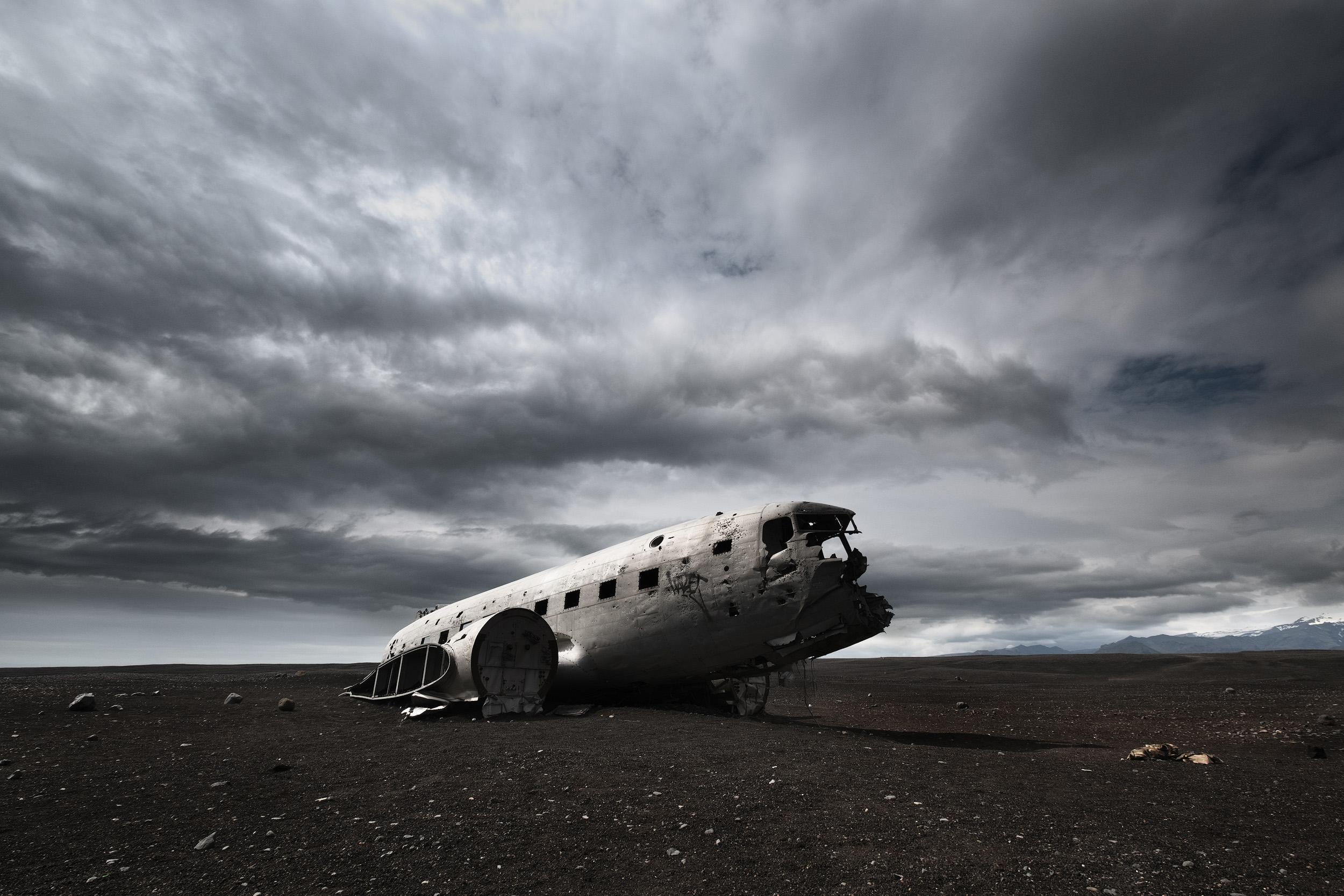 Dakota  The remains of a DC3 that crash landed on southern Iceland's Sólheimasandur beach.