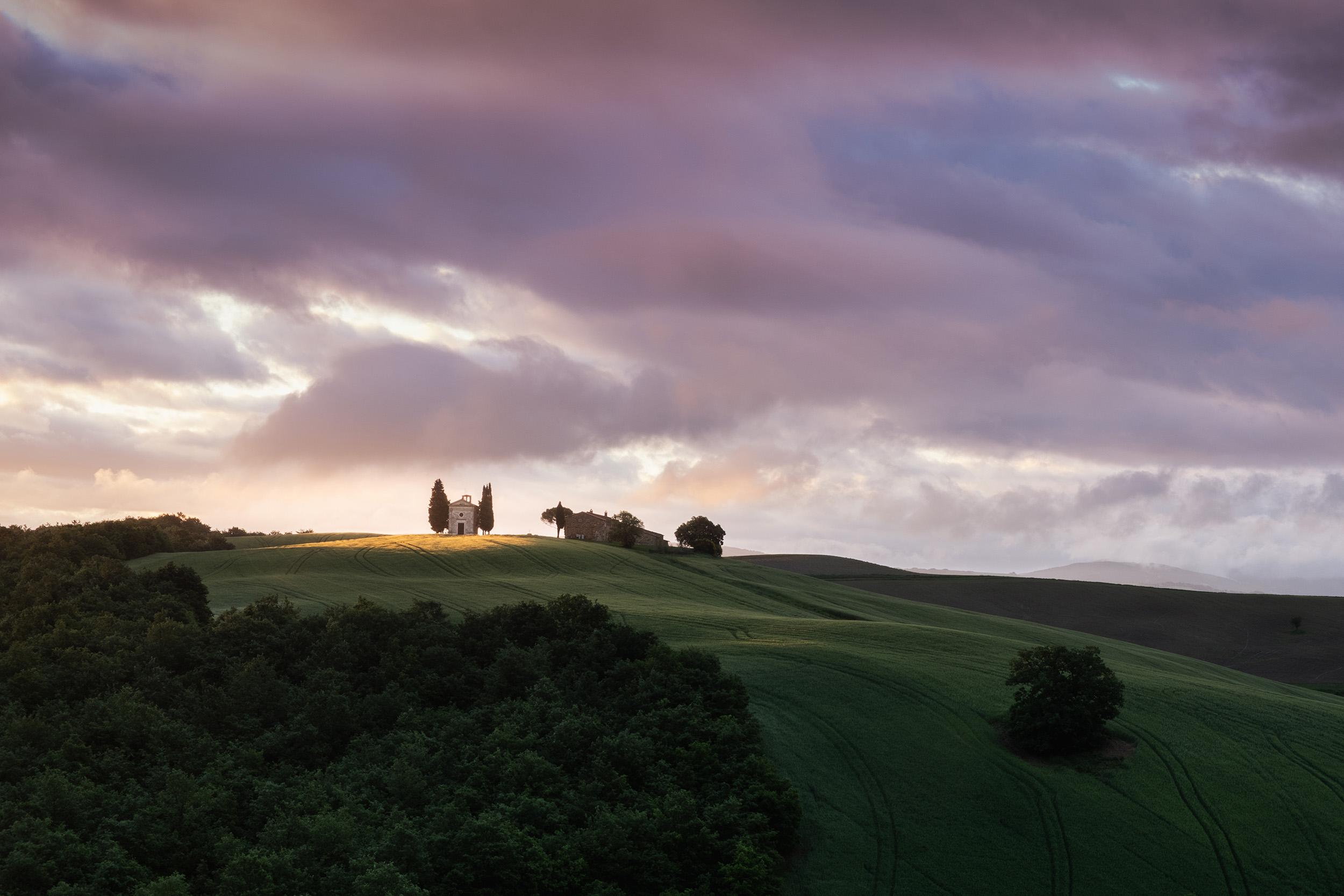 Cappella della Madonna di Vitalità at sunrise