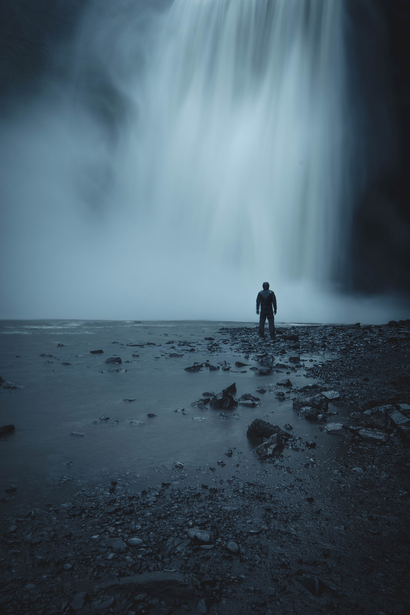 Standing close to the foot of the powerful falls of Skogafoss is an intense experience.