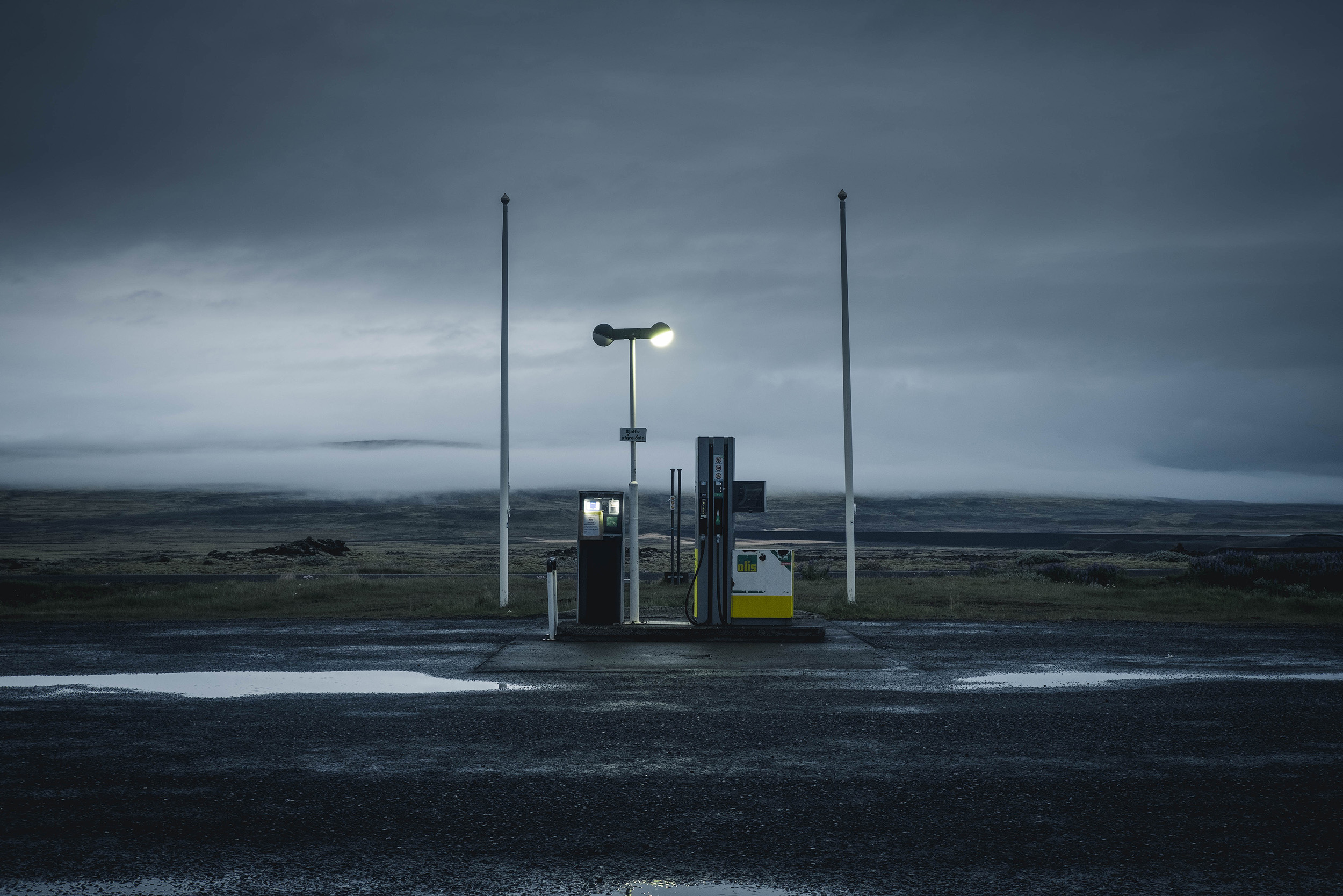 The gas station at our hotel base on the edge of the Highlands.