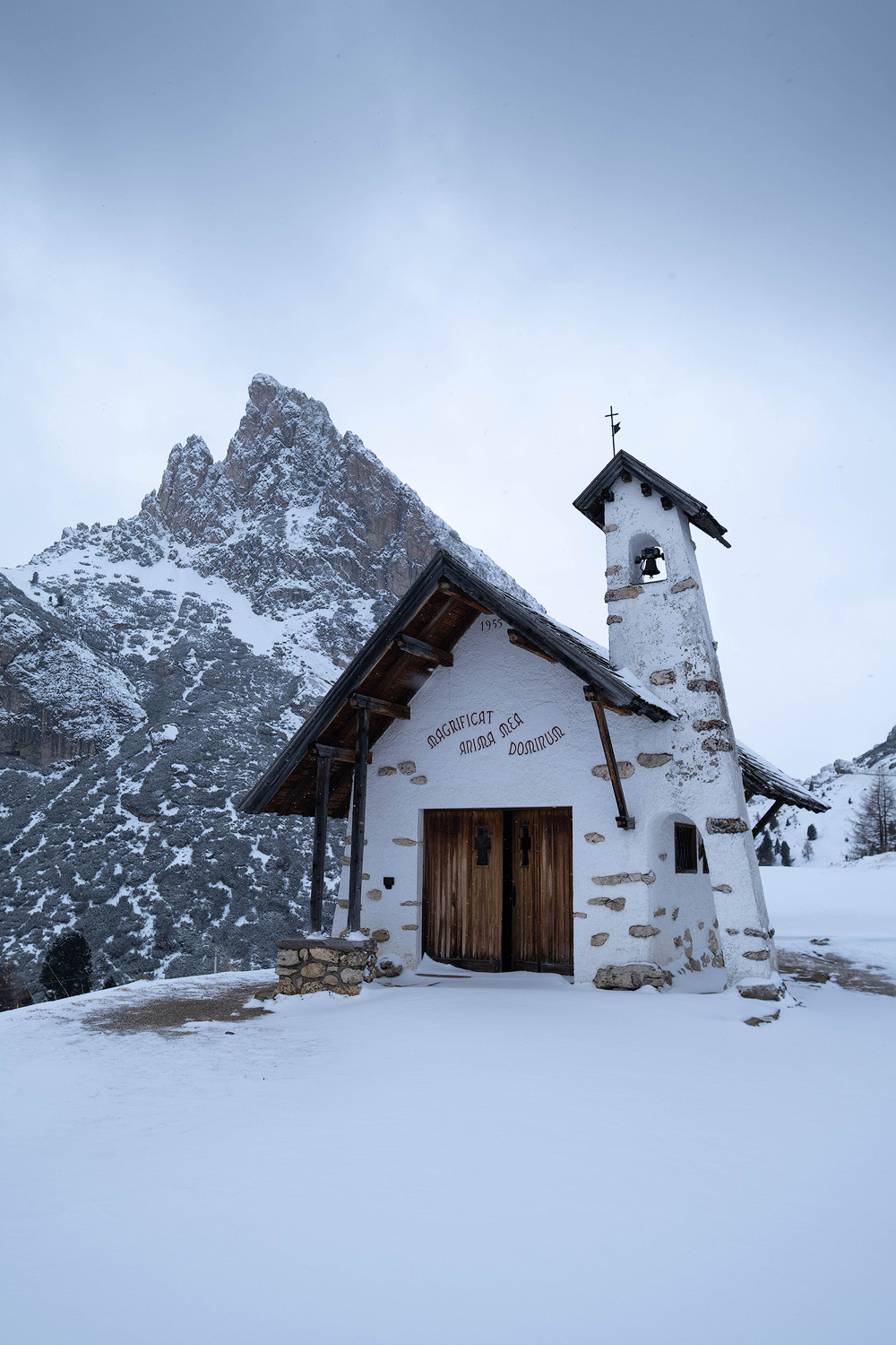 The small chapel at the top of Passo Falzarego