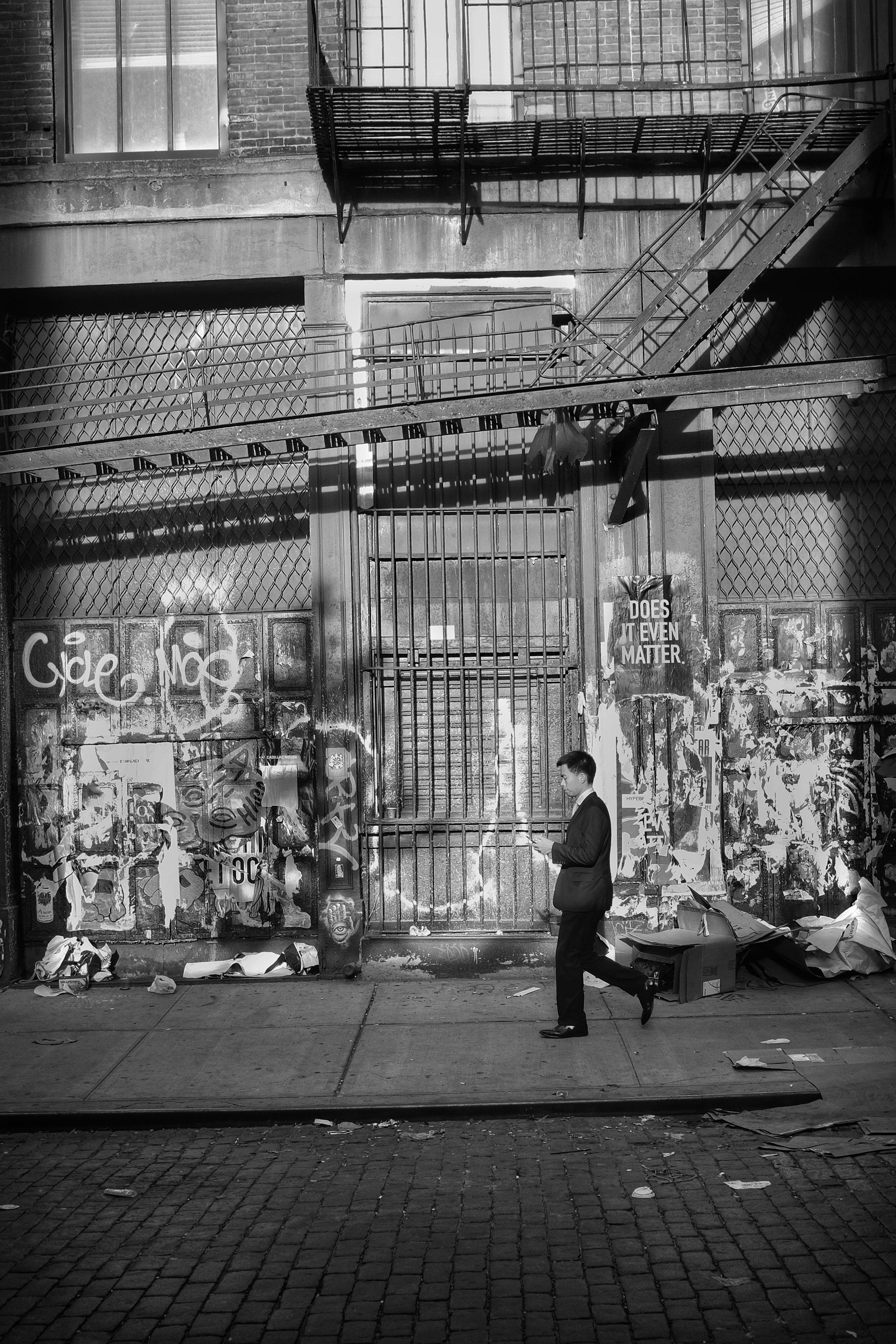 Does It Even Matter. Crosby Street. SOHO. New York City. 2016.
