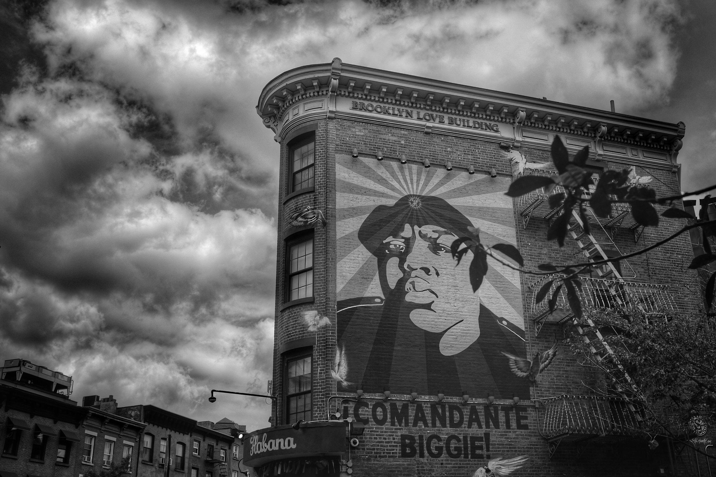 Comandante Biggie. Brooklyn Love Building. Fort Greene. Brooklyn. New York. 2016.