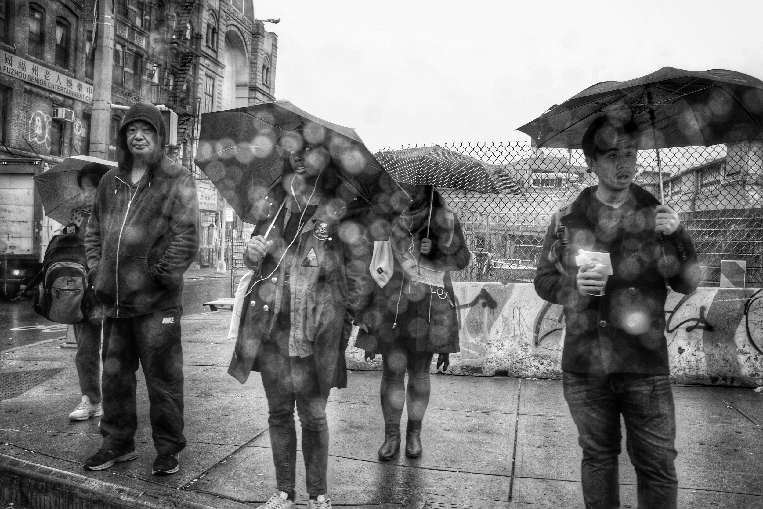 Rain. Canal Street. Chinatown. New York City. 2016.