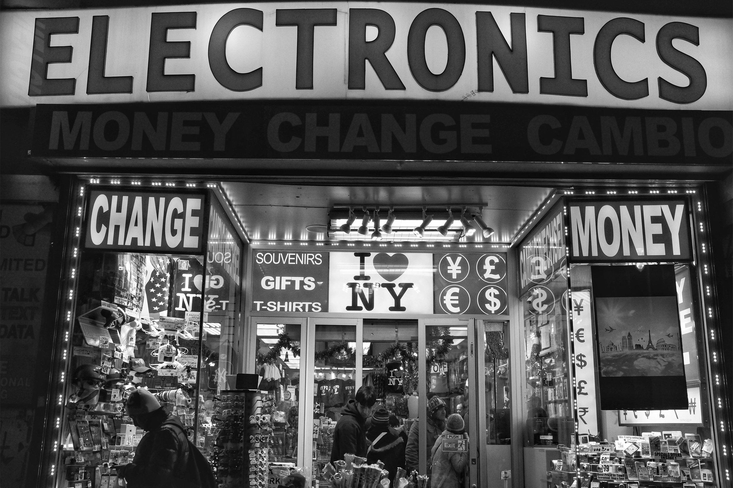 Electronics. 7th Ave. New York City. 2016
