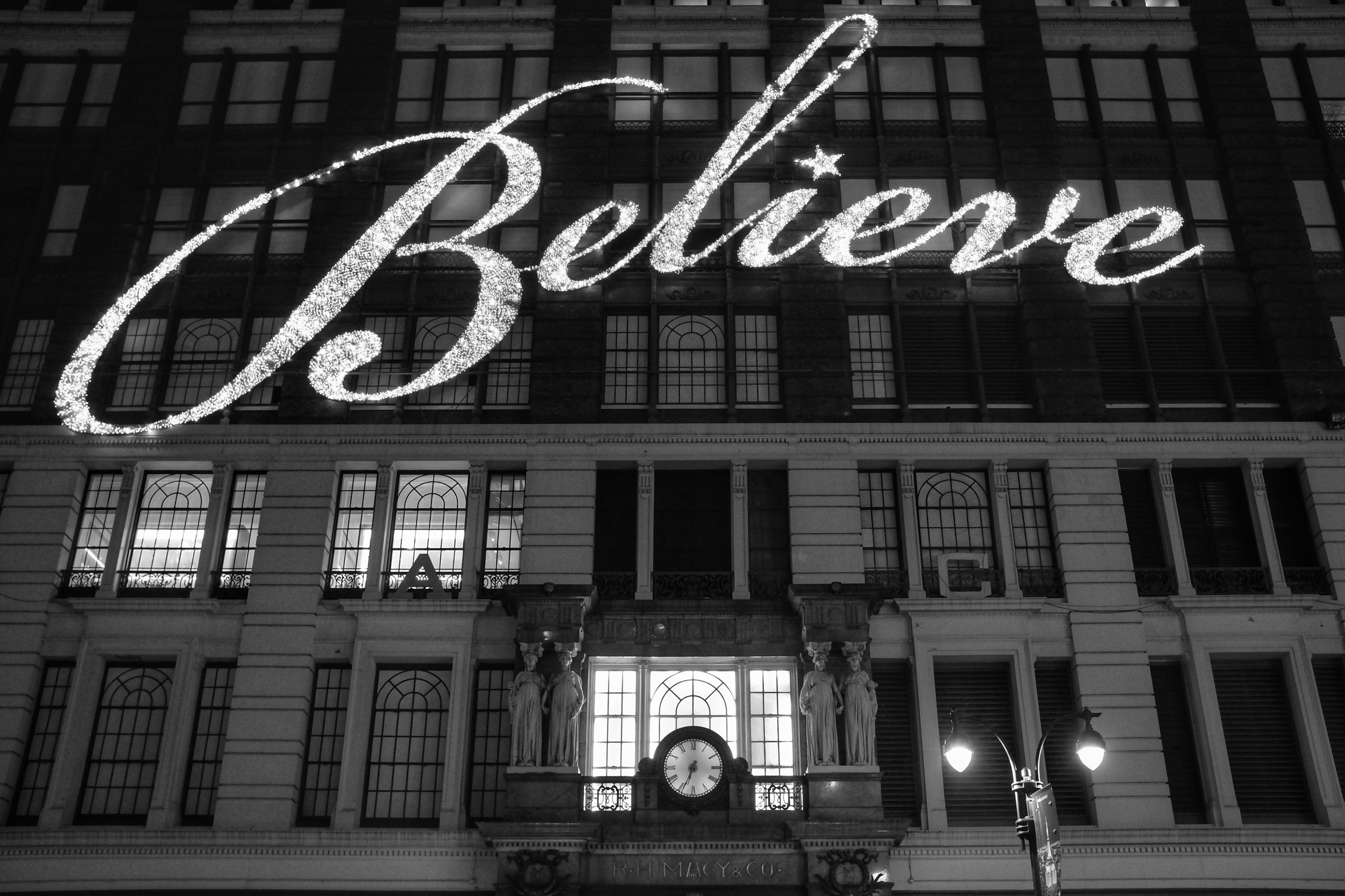 Believe. Macy's. Herald Square. New York. 2016