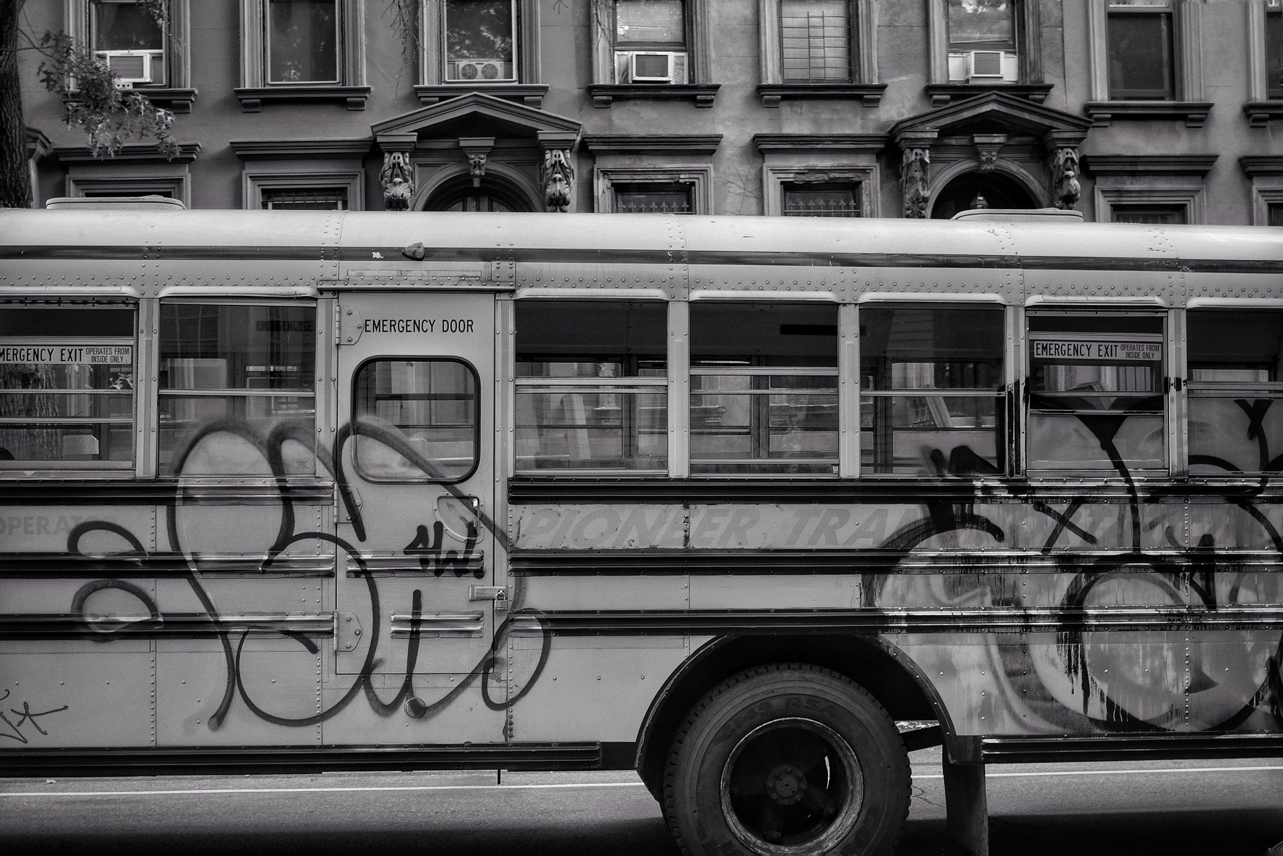 School Bus. Fort Greene. Brooklyn. New York. 2016.