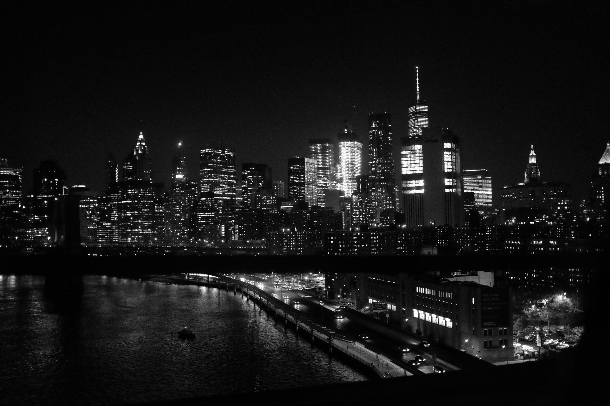 Lower Manhattan from the Manhattan Bridge. New York City. 2016.