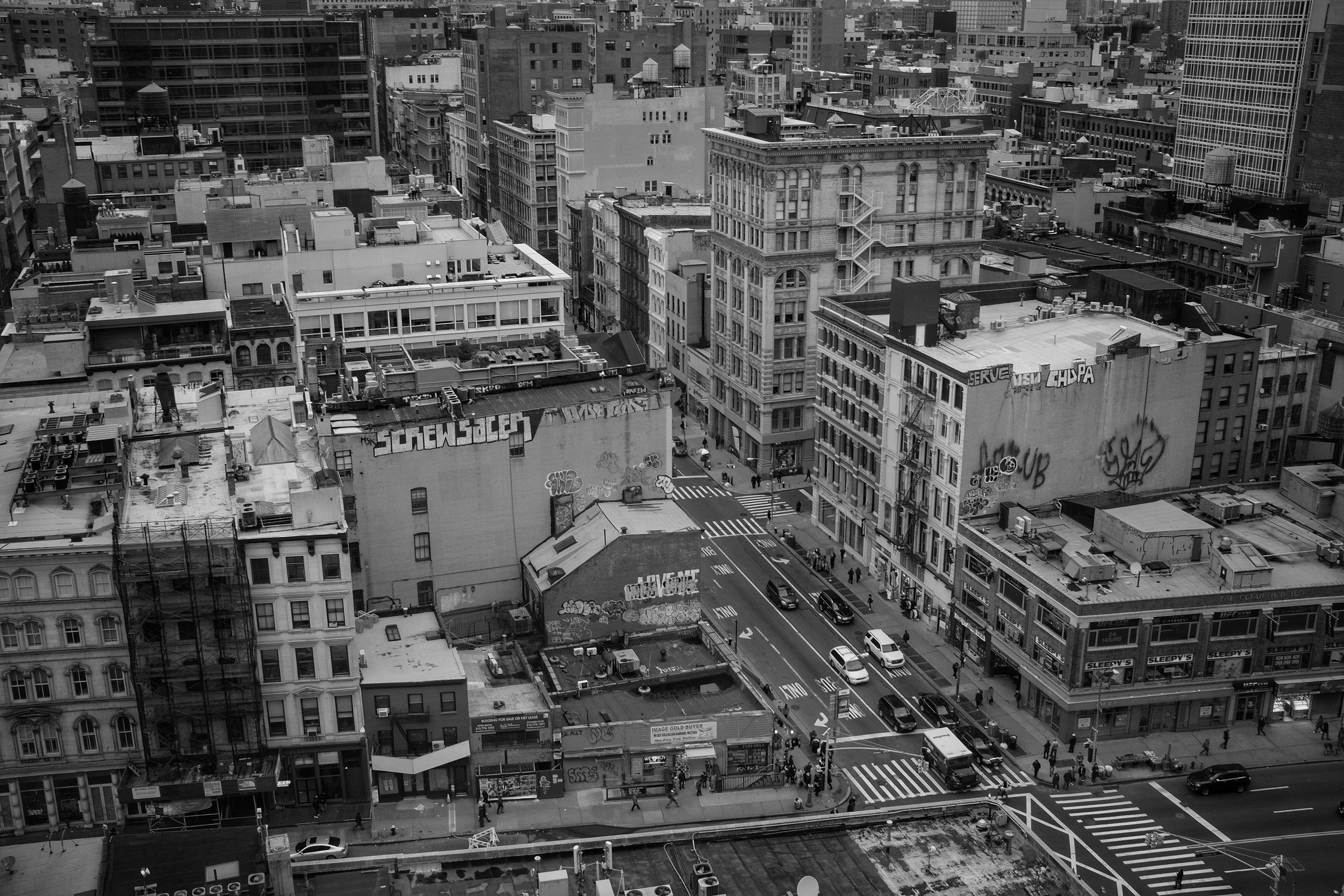 Broadway + Canal. SOHO. New York City. 2016.