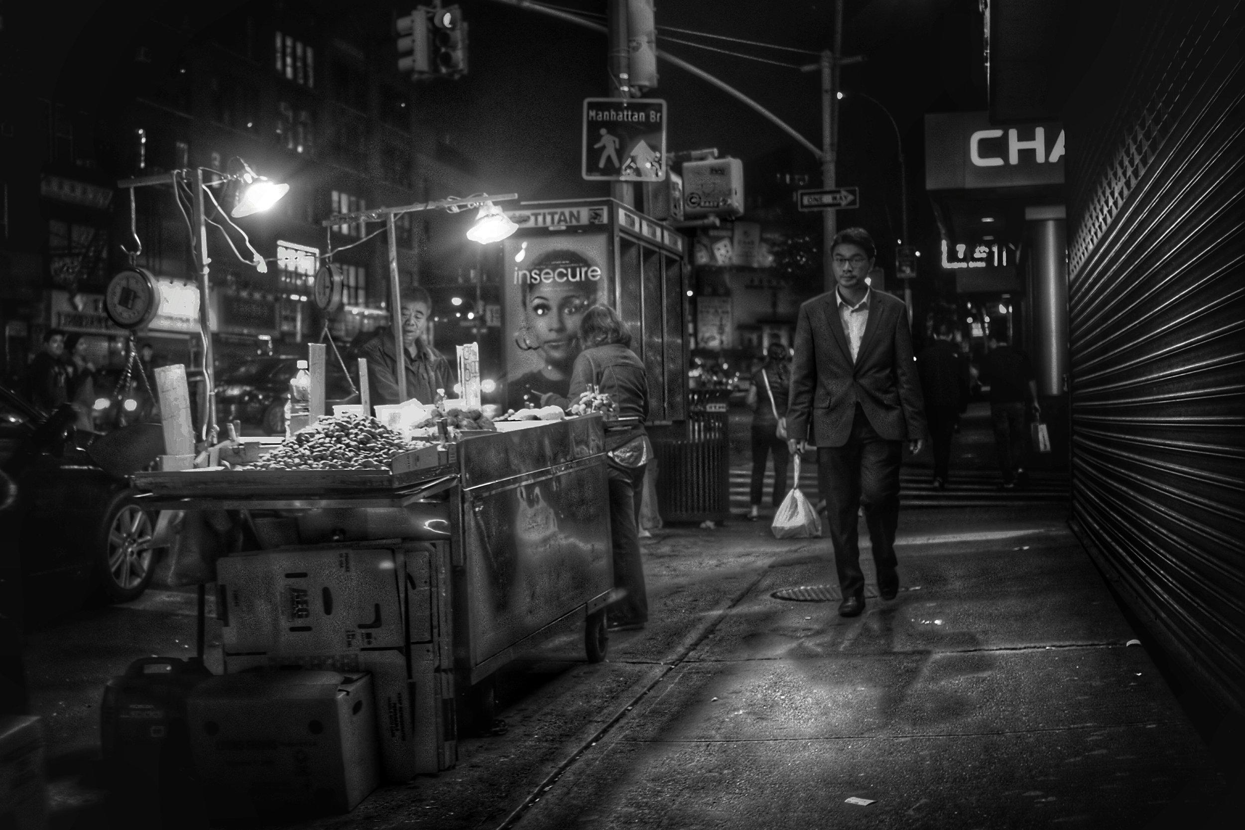 Vendor. Canal Street. New York City. 2016.