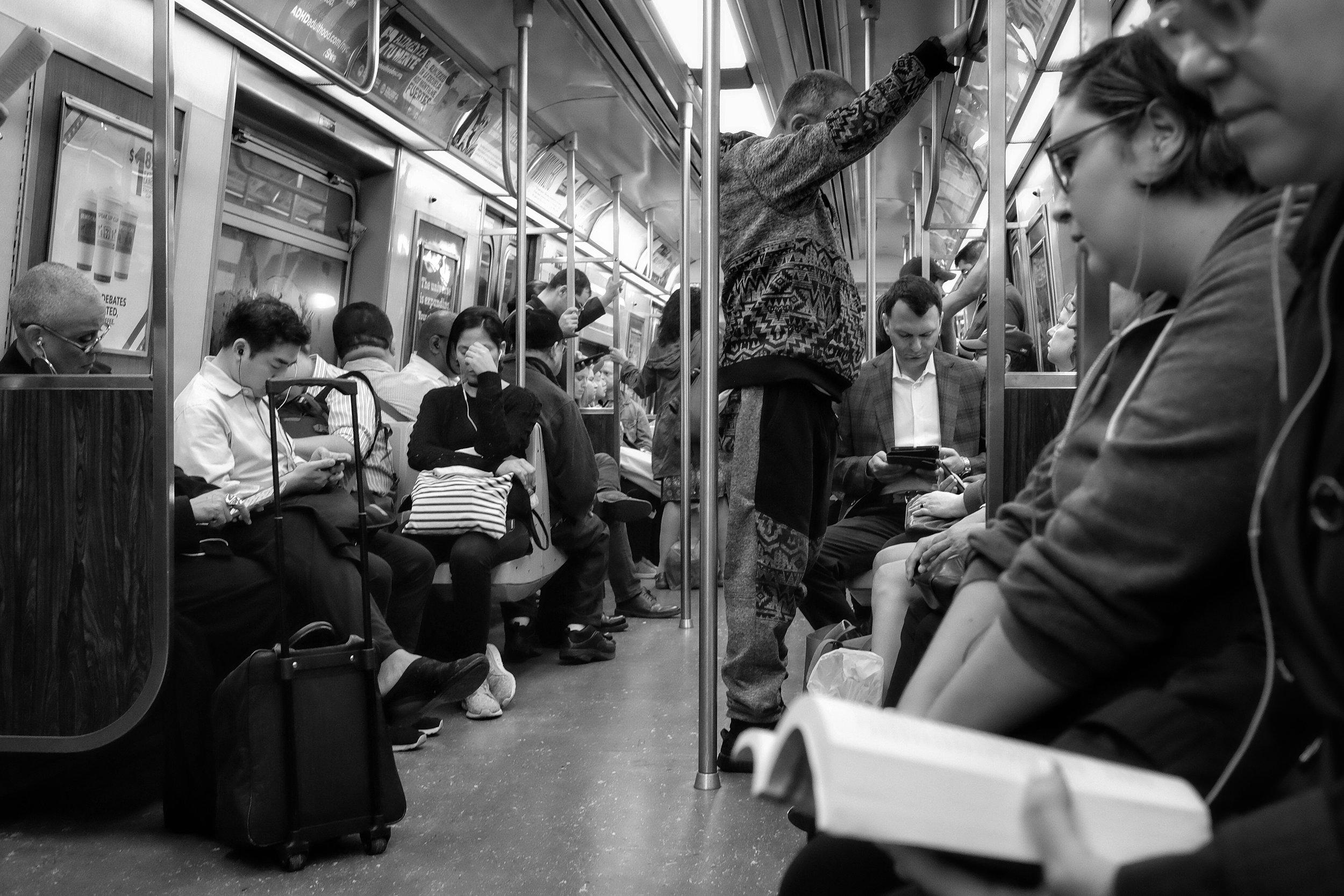 N Train. 8th Street to Canal Street. New York City. 2016.