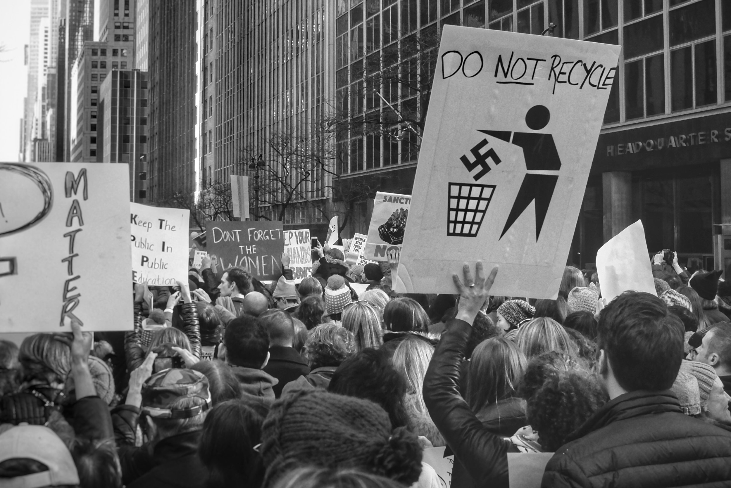 Woman's March on New York City. Midtown Manhattan. NYC. 1.21.17