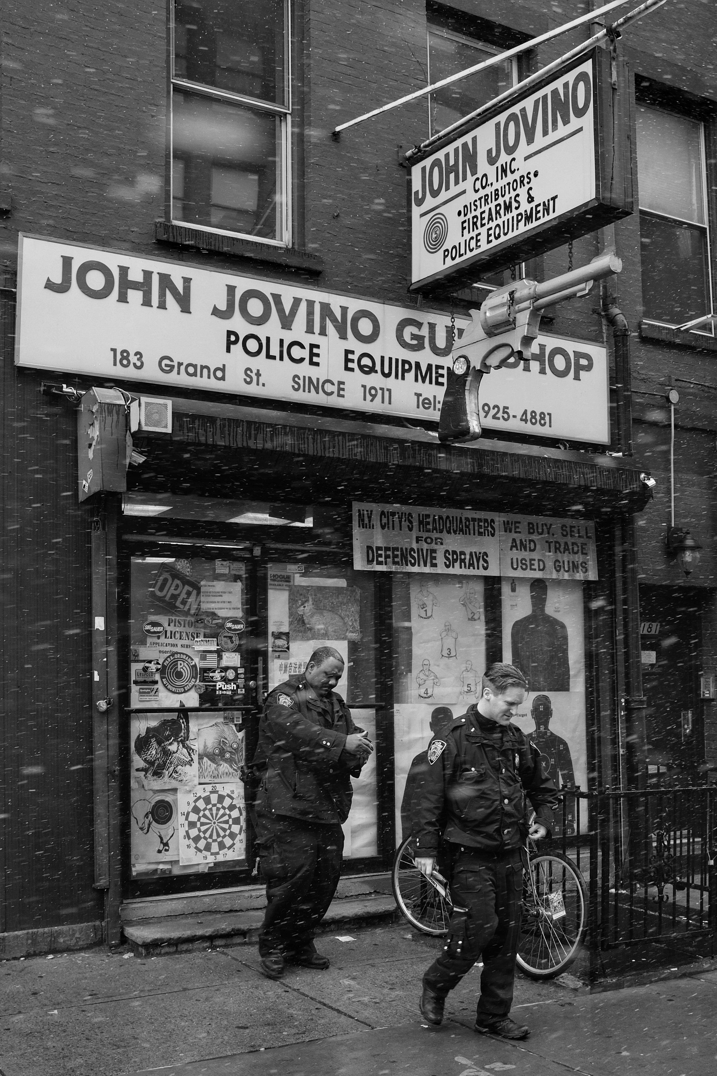 John Jovino Gun Shop. Grand Street. Little Italy. New York City. 2017