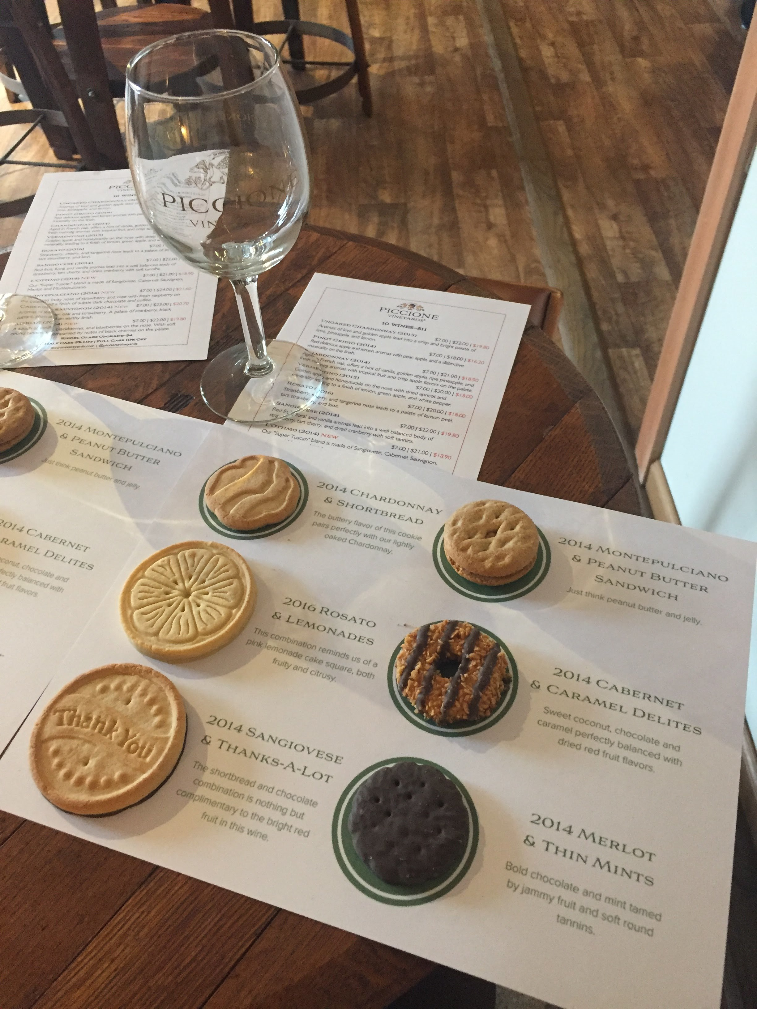 Girl Scout cookies and wine pairing. We were in heaven.