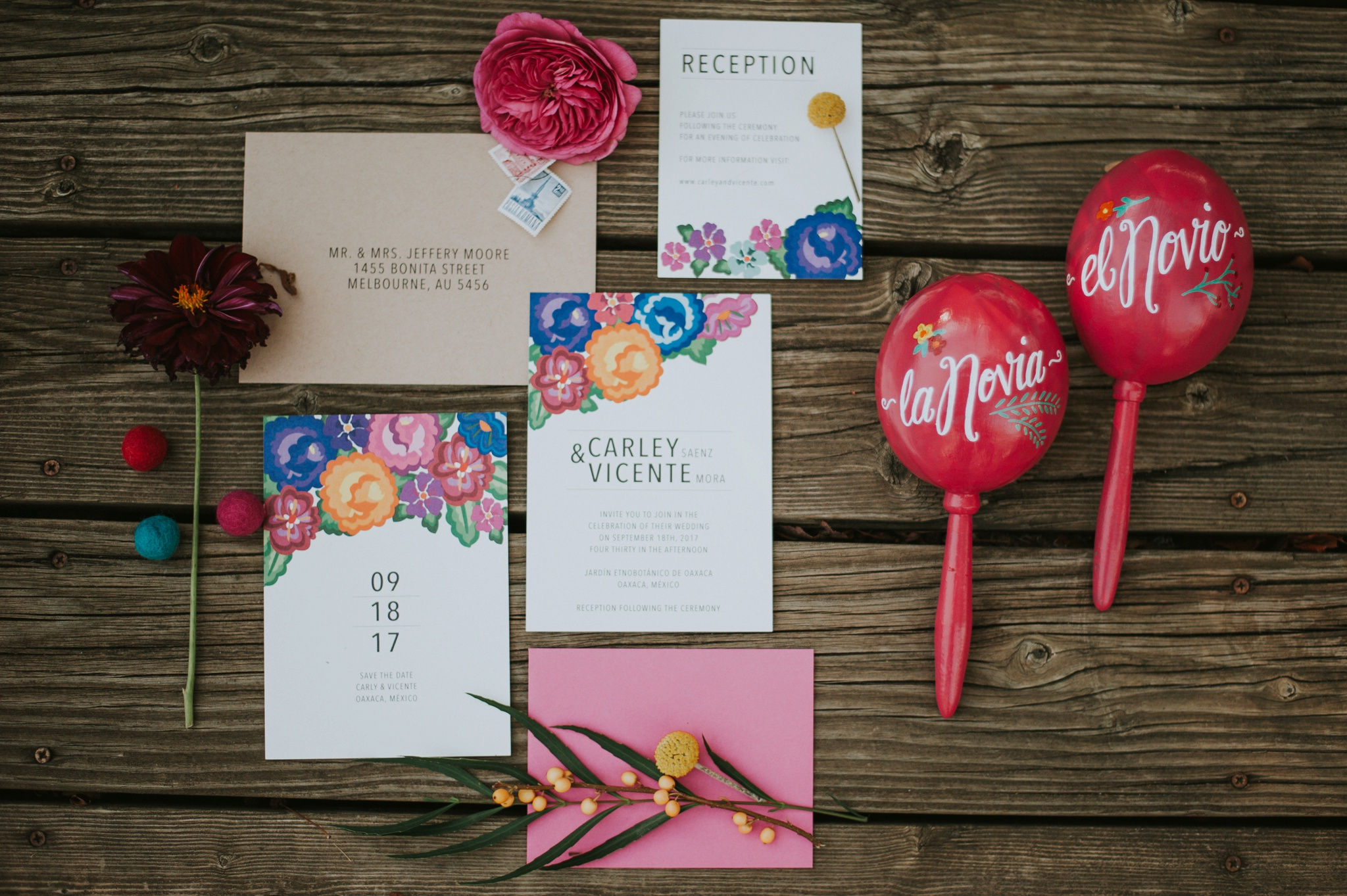 Fiesta Themed Wedding Invitations