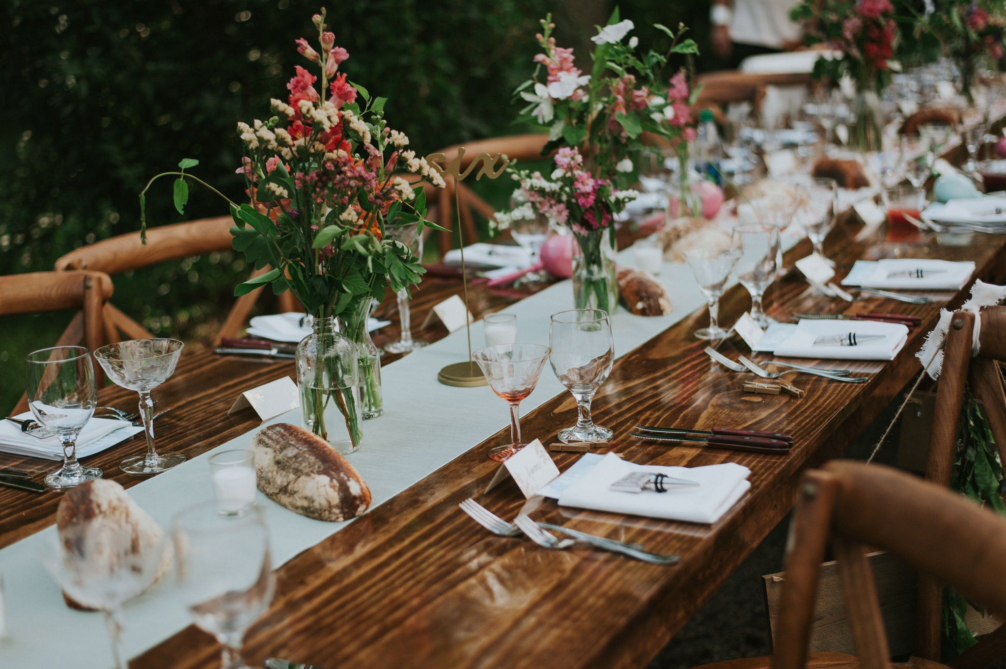 Outdoor Wedding Table Scape