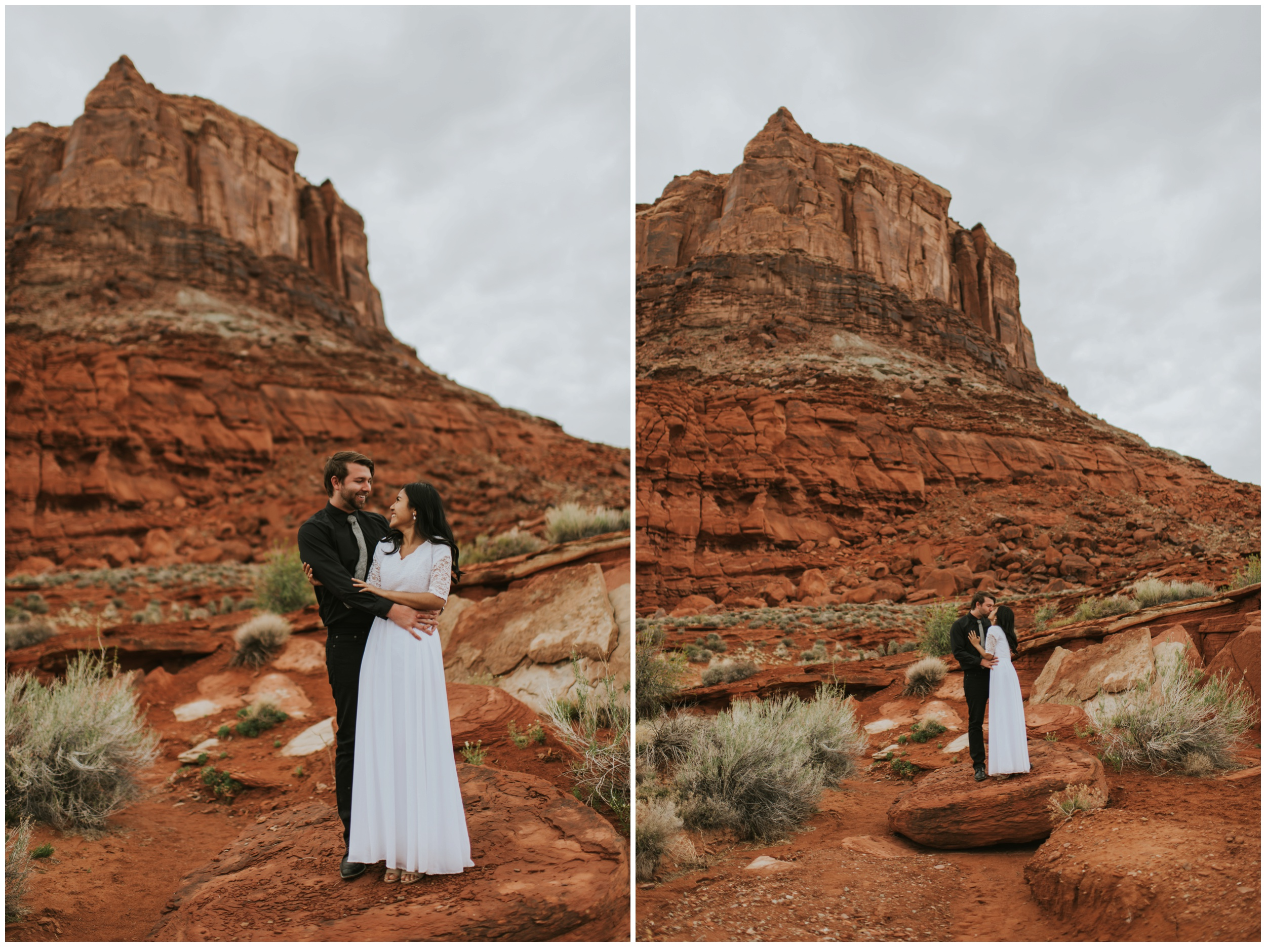 Bride and Groom Portraits at Moab Utah, Destination Elopement | Moab Utah, Photographer www.riversandroadsphotography.com