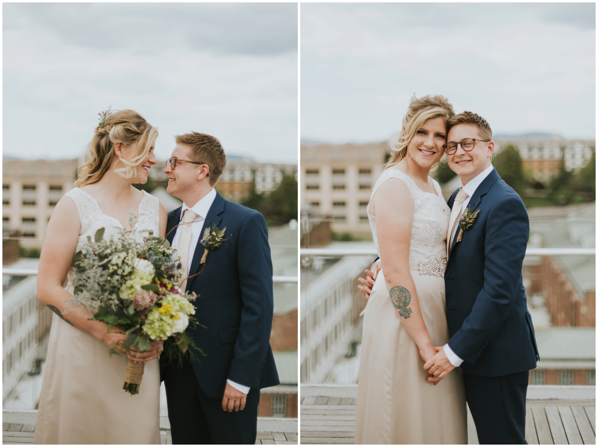 center in the square rooftop wedding, roanoke Virginia  | www.riversandroadsphotography.com