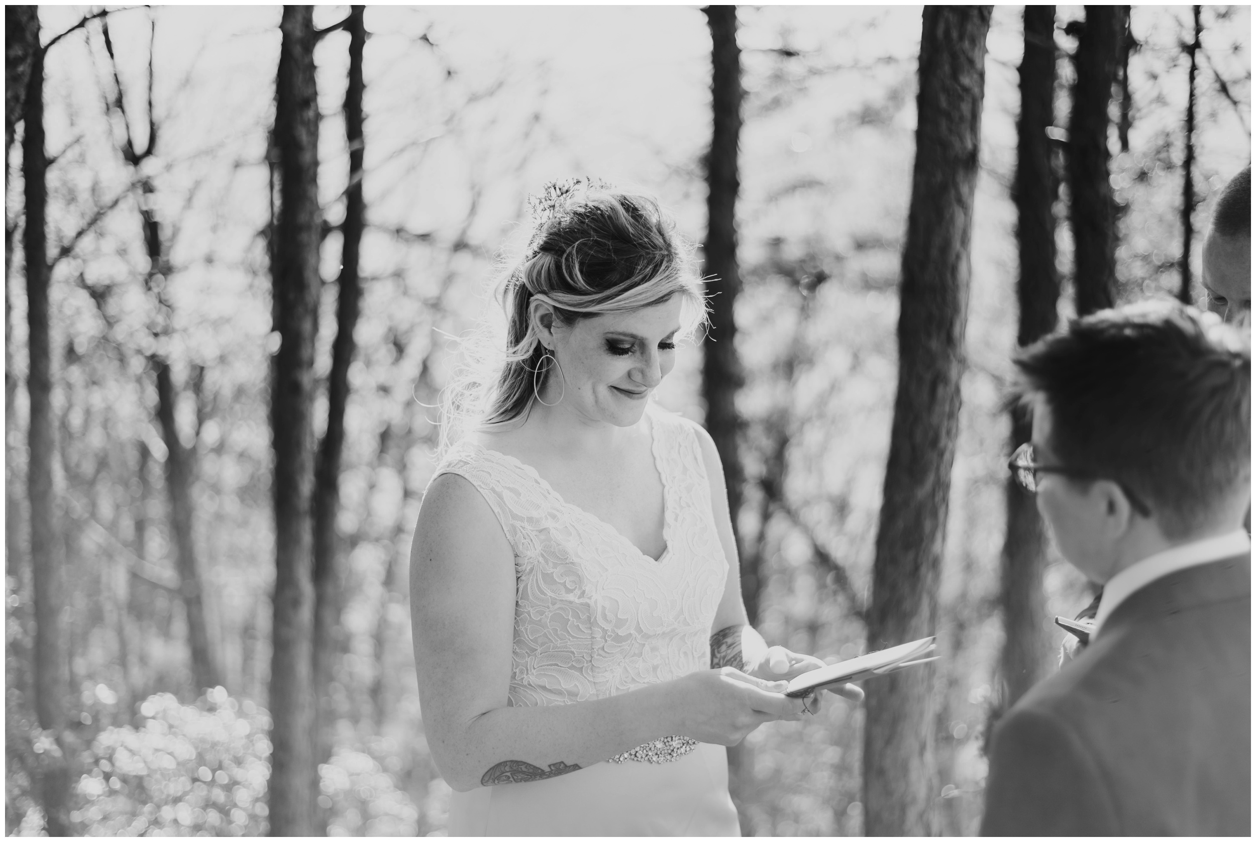 bride smiling and crying during ceremony | www.riversandroadsphotography.com