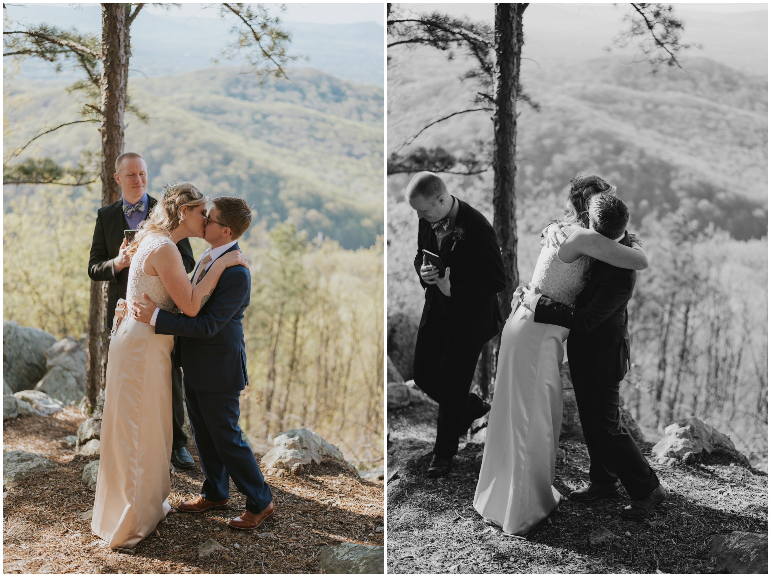 first kiss on top of roanoke mountain | www.riversandroadsphotography.com