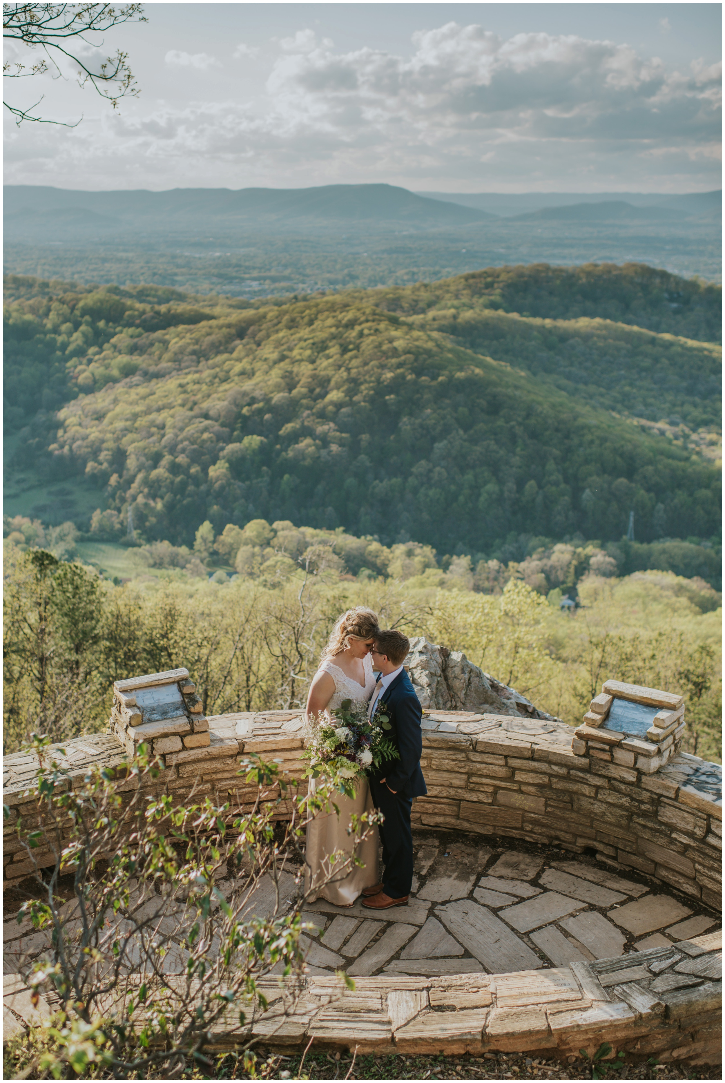 Roanoke Mountain Overlook Elopement  | www.riversandroadsphotography.com