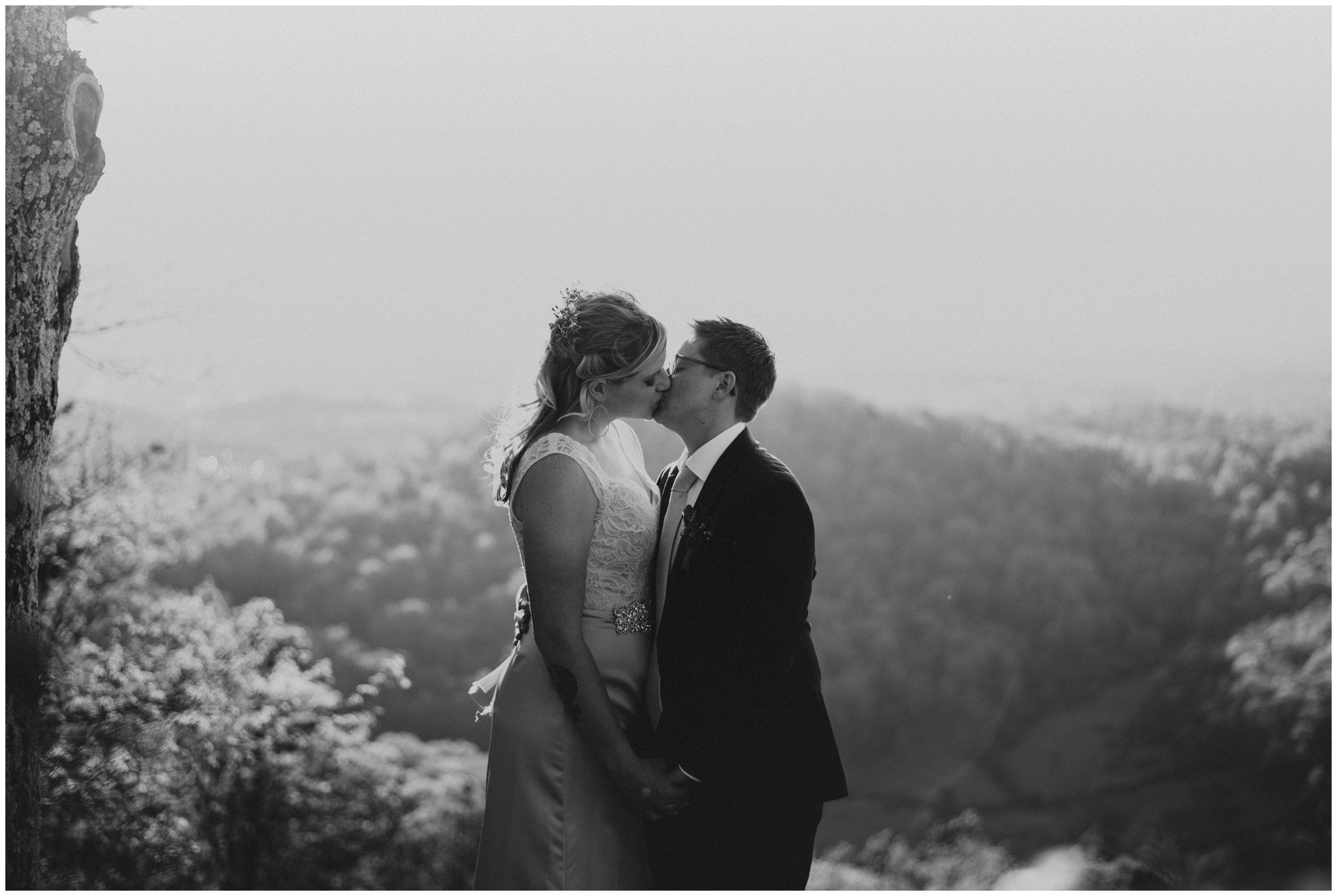 Roanoke Mountain Overlook at Sunset. Wedding Photographer  | www.riversandroadsphotography.com