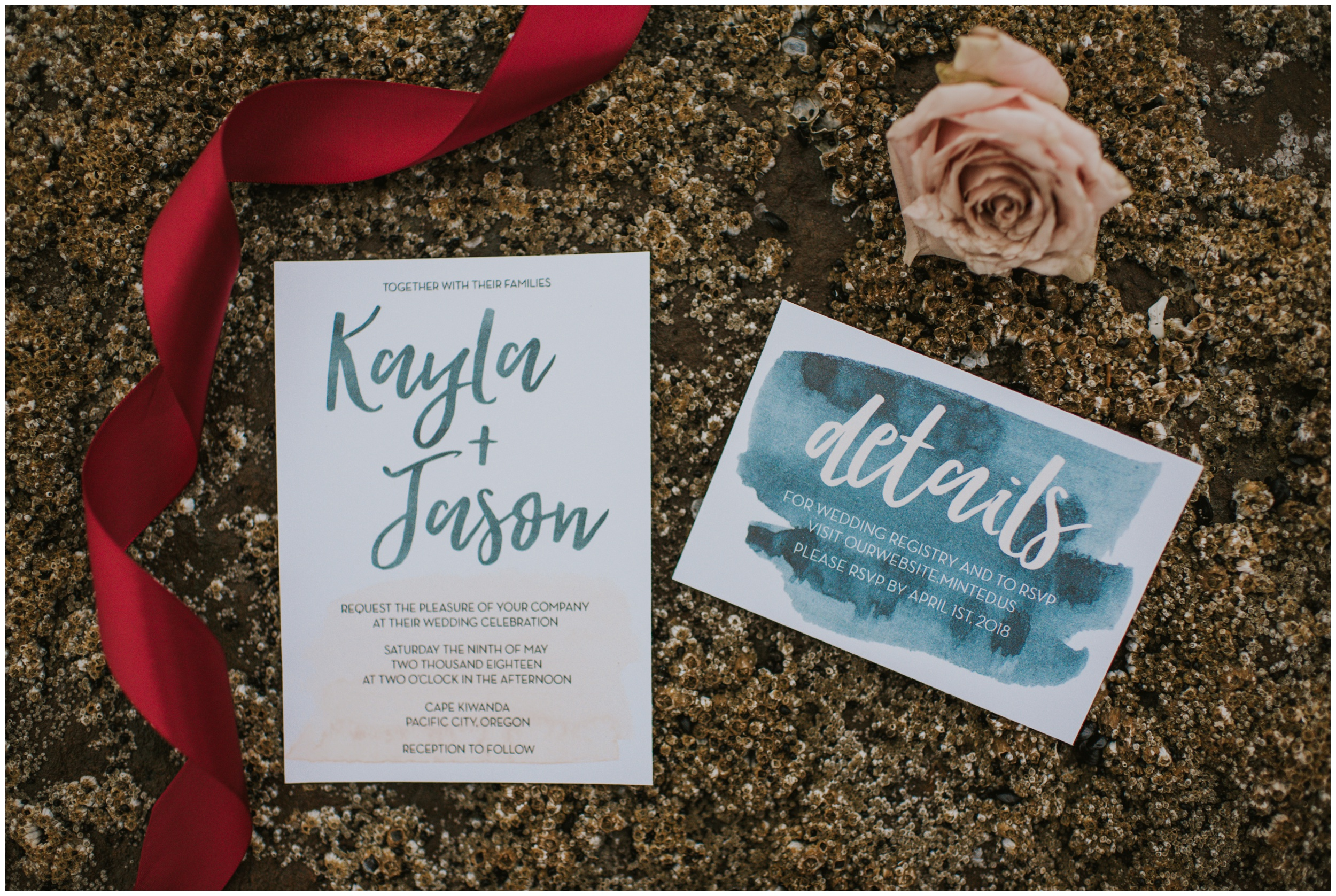 Invitation Suite at the beach | www.riversandroadsphotography.com