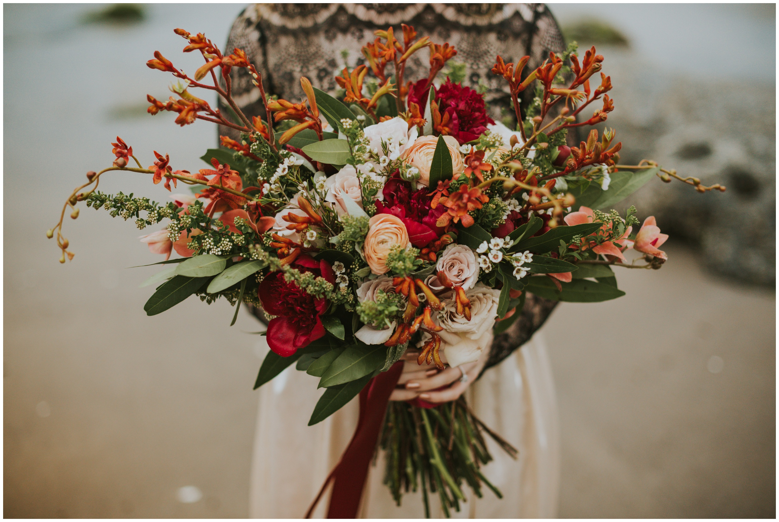 Beautiful bouquet by Pacific Coast Floral Design | www.riversandroadsphotography.com