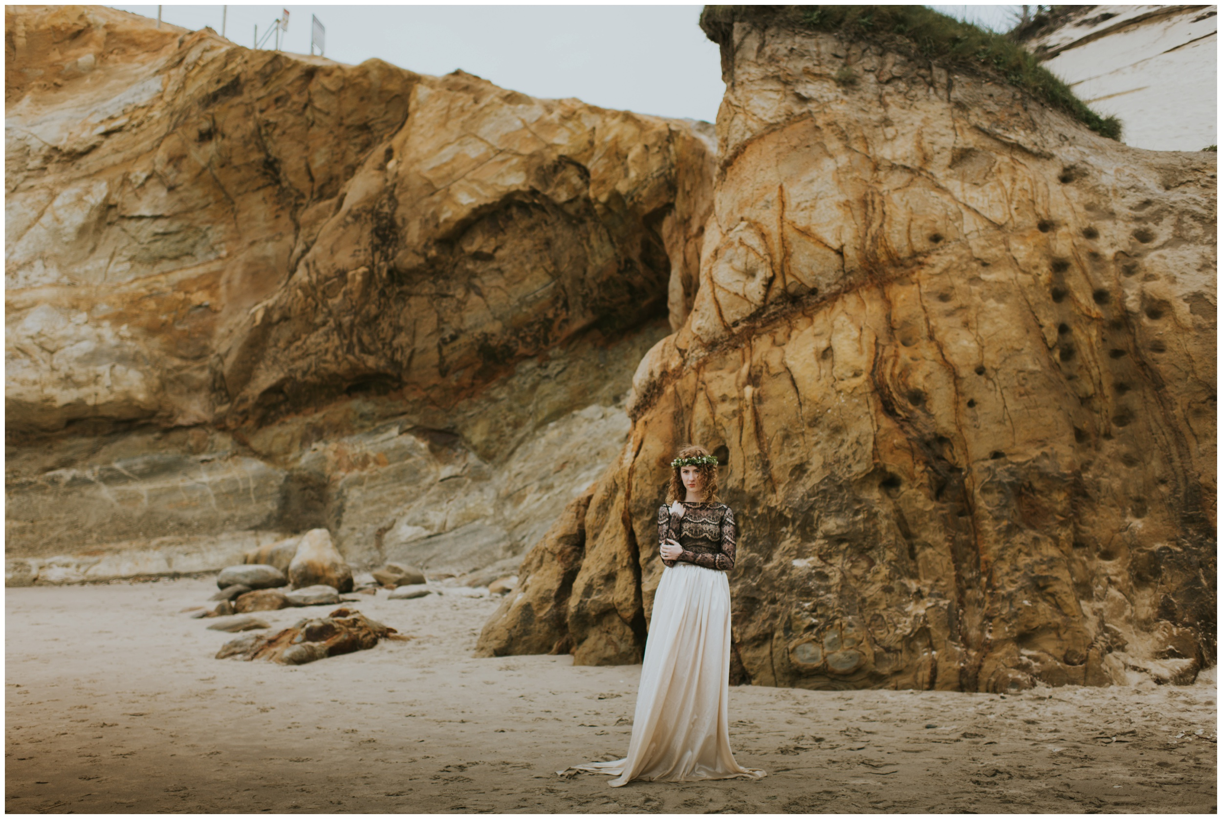 bridal portrait at cape kiwanda  | Pacific City Wedding Photographer www.riversandroadsphotography.com