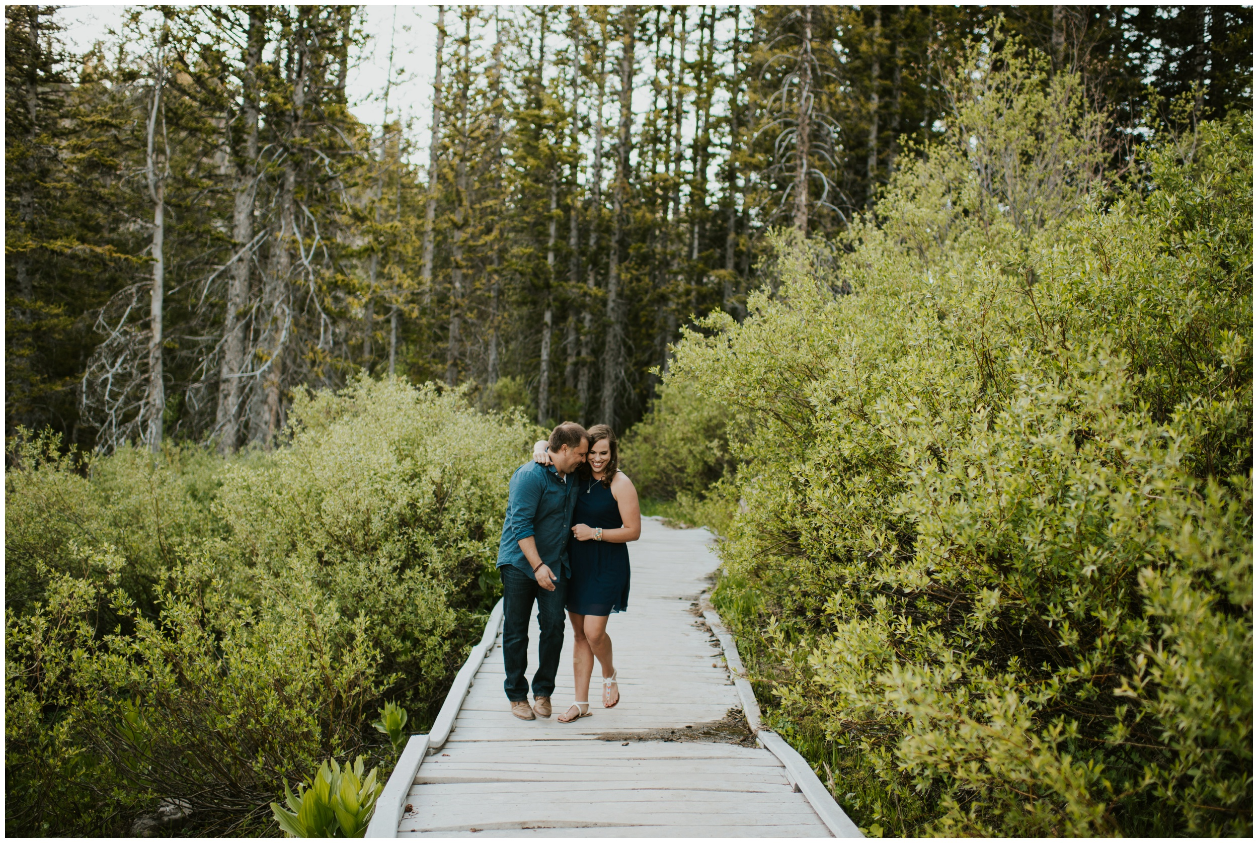 Logan Utah Engagement Photography. Tony Grove Campground Logan Utah.