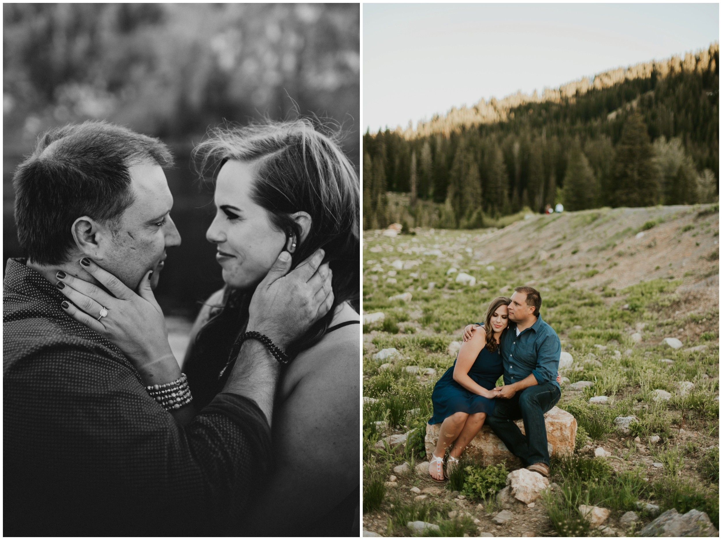 engagement photos. Logan utah. Tony grove campground.