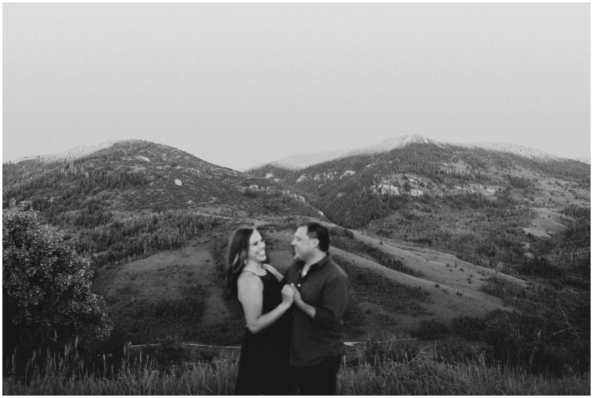 black and white engagement photography Logan utah