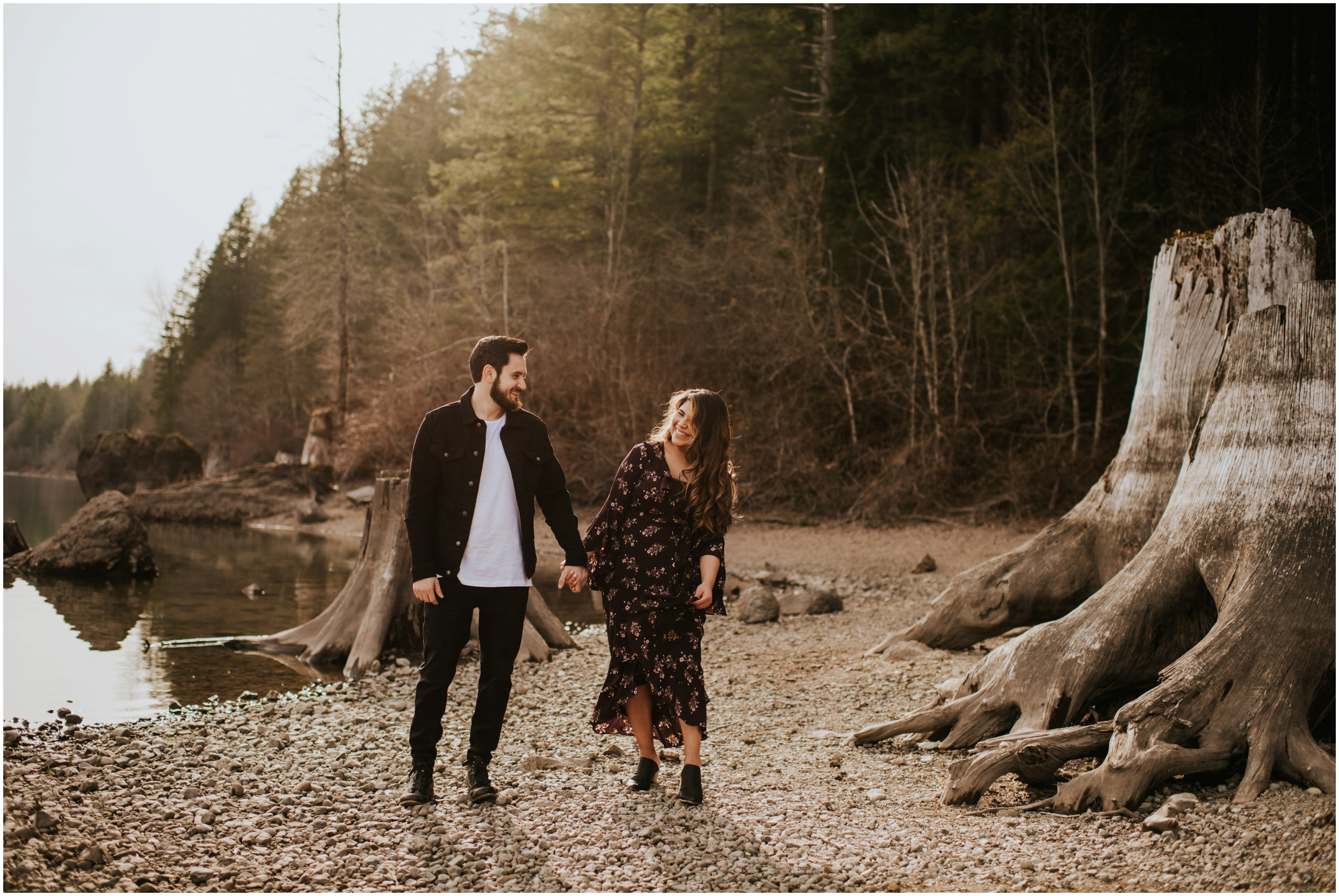 Couple session at Rattlesnake Lake, WA | Seattle Washington Wedding Photographer www.riversandroadsphotography.com