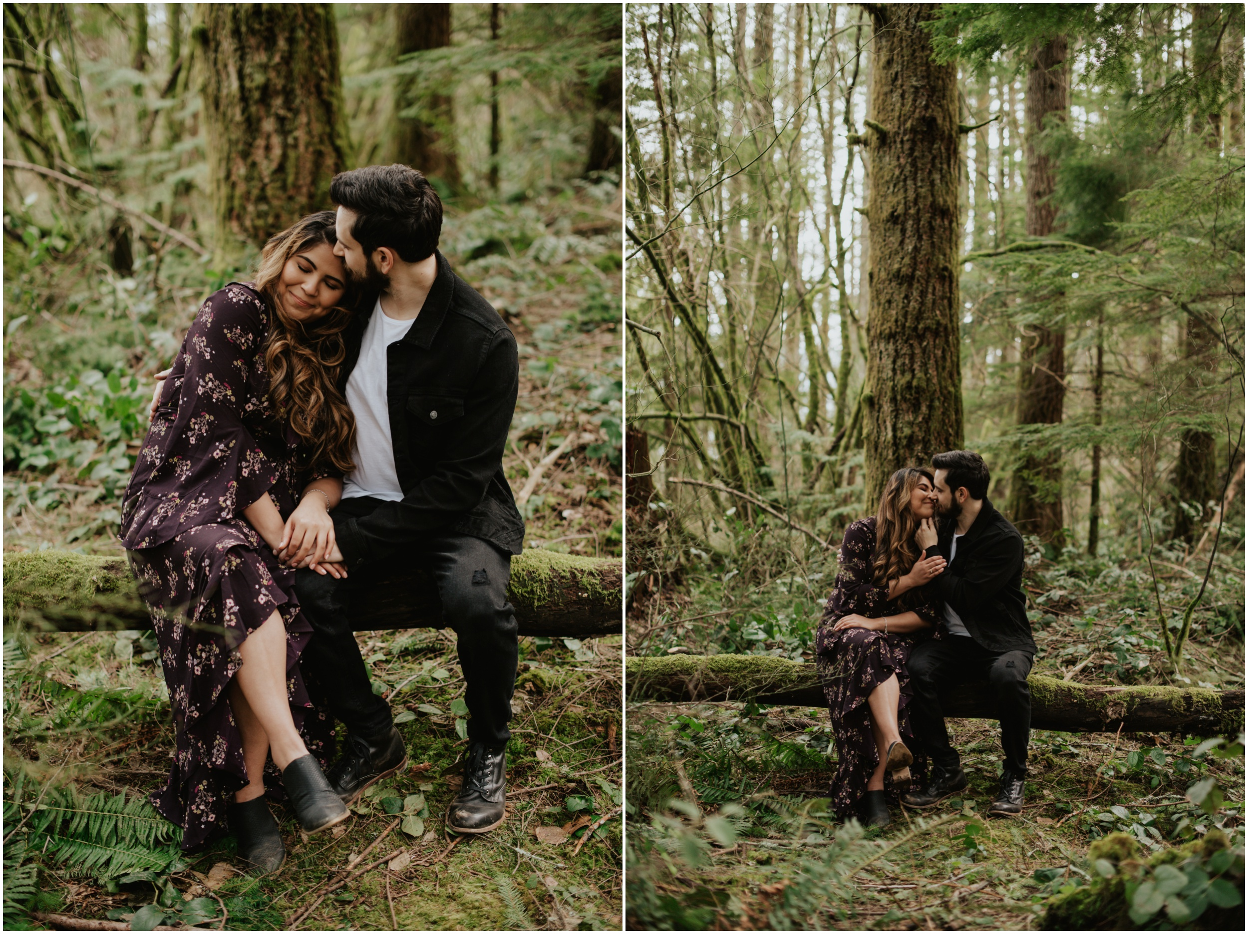 Couples engagement session in the woods Rattlesnake Lake, WA | Seattle Wedding Photographer www.riversandroadsphotography.com