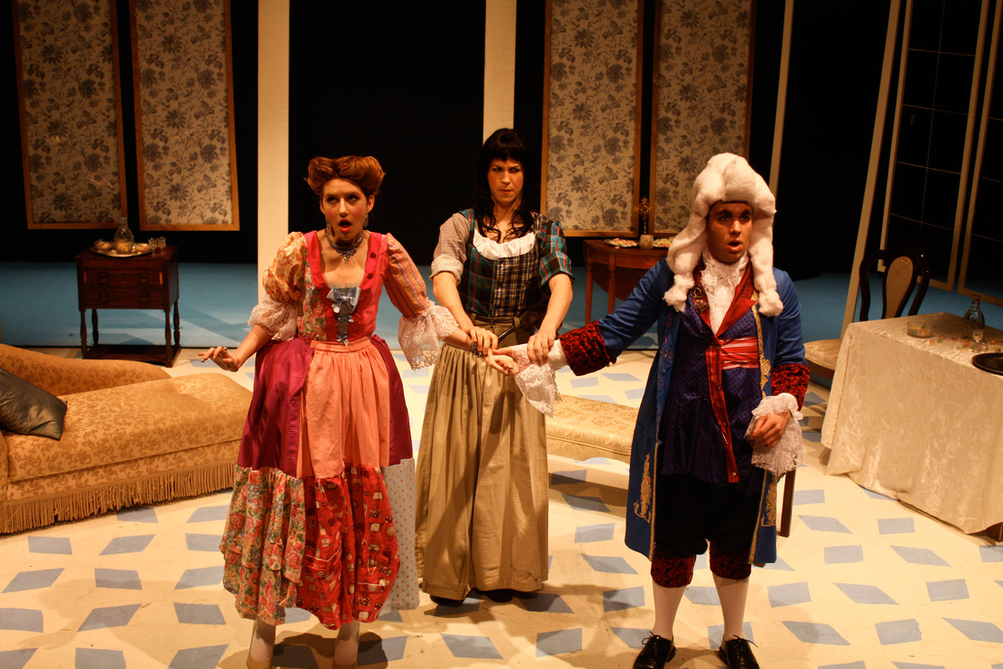 """""""Valère"""" in  Tartuffe  (with, L-R, Chloë Boxer and Zach Herwitz)"""